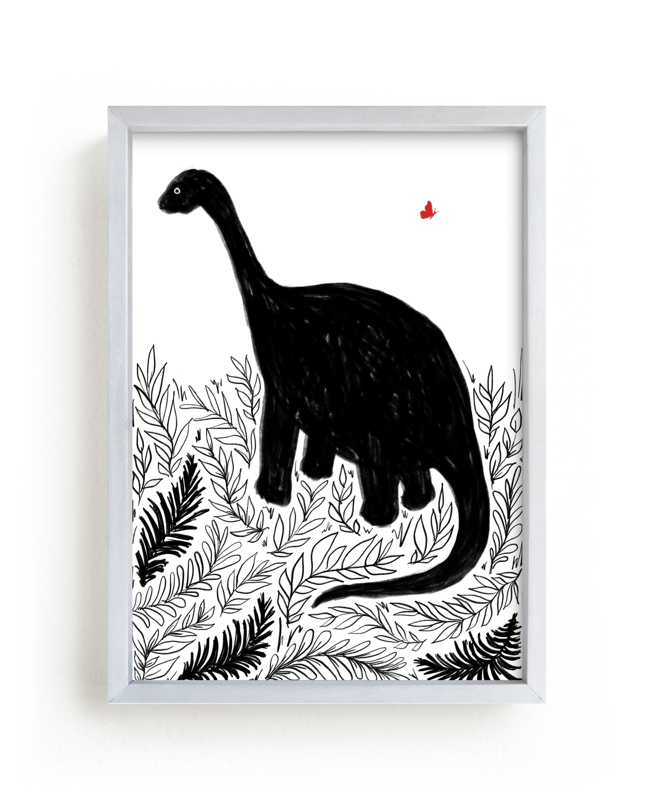 """""""Dinosaur love"""" - Limited Edition Art Print by Susanne Kasielke in beautiful frame options and a variety of sizes."""