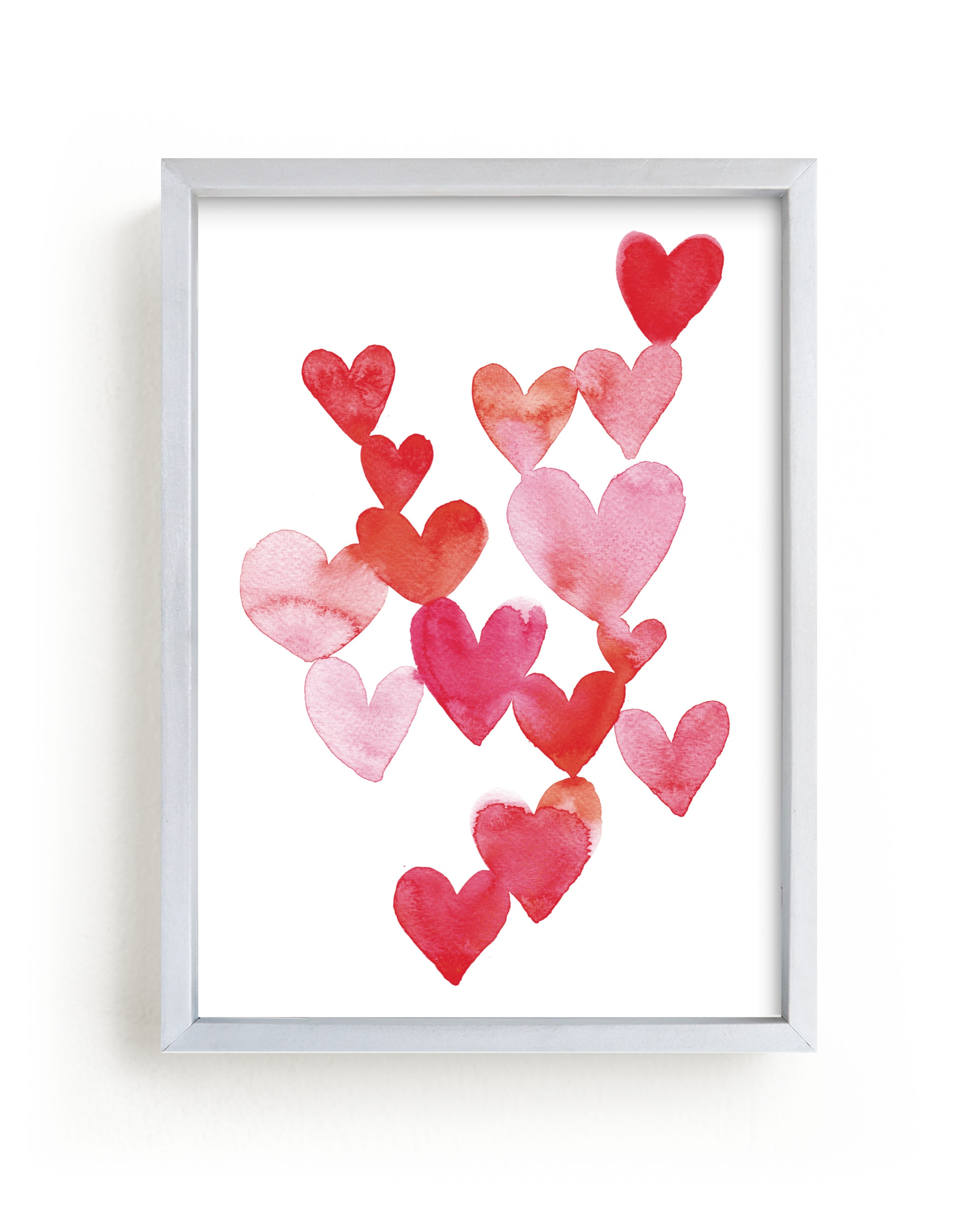 """""""Love is around you """" - Limited Edition Art Print by Claudia Orengo in beautiful frame options and a variety of sizes."""