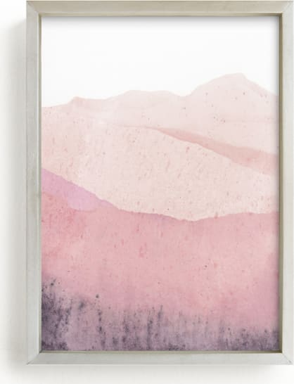 This is a pink art by Sadie Holden called Mountain Range.