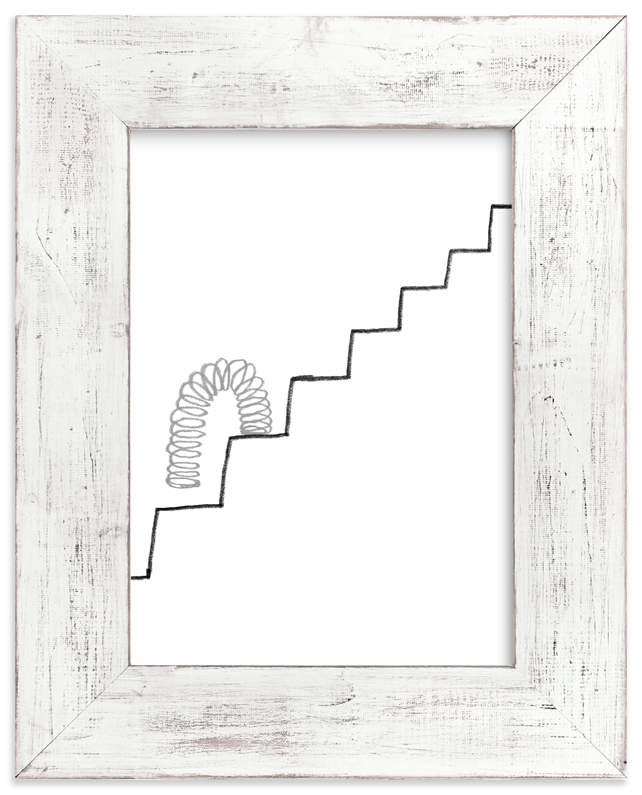 """""""Slinky on the Stairs"""" - Limited Edition Art Print by Elliot Stokes in beautiful frame options and a variety of sizes."""