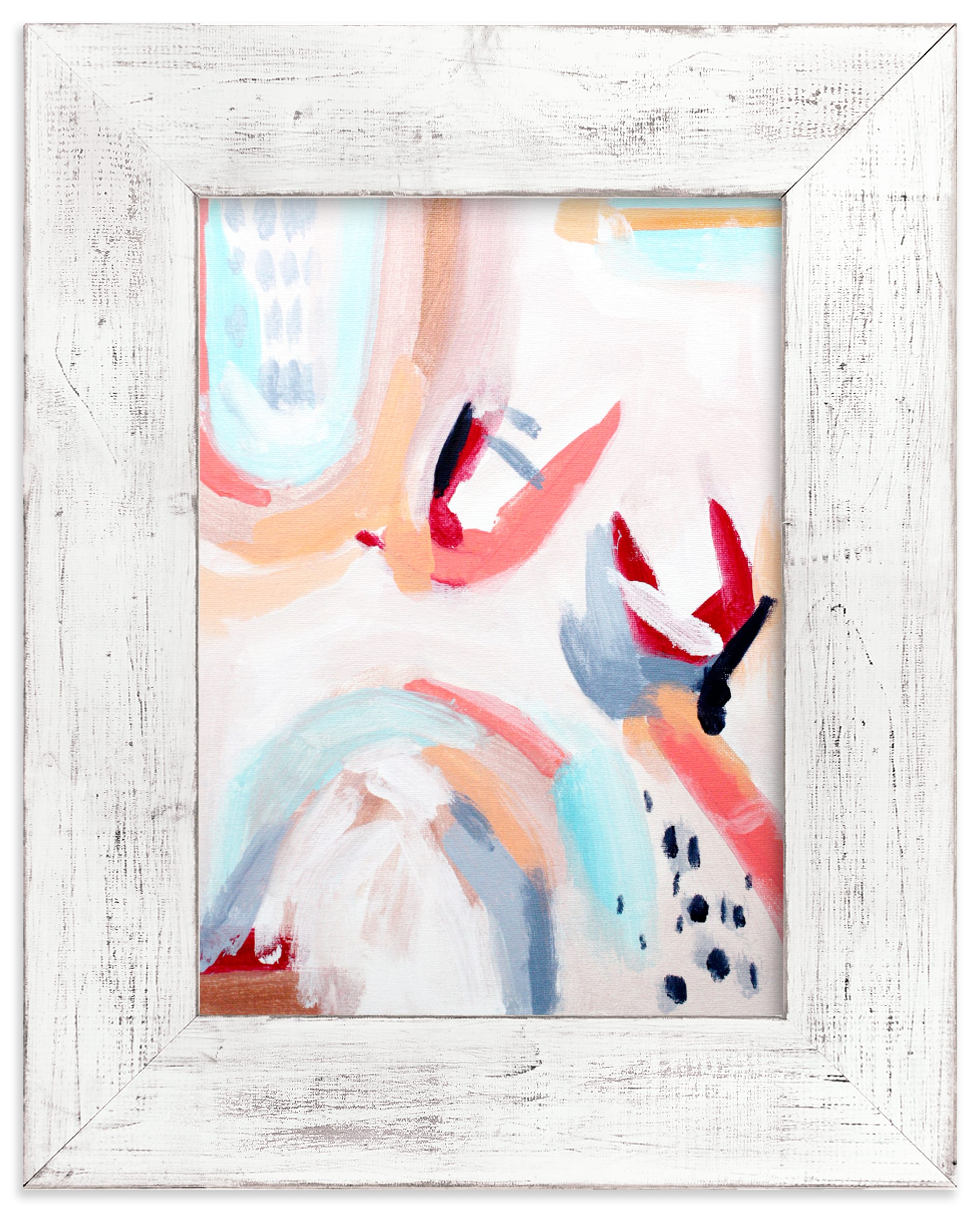 """""""Be simple, live happy II"""" - Limited Edition Art Print by Jihye Back Kim in beautiful frame options and a variety of sizes."""