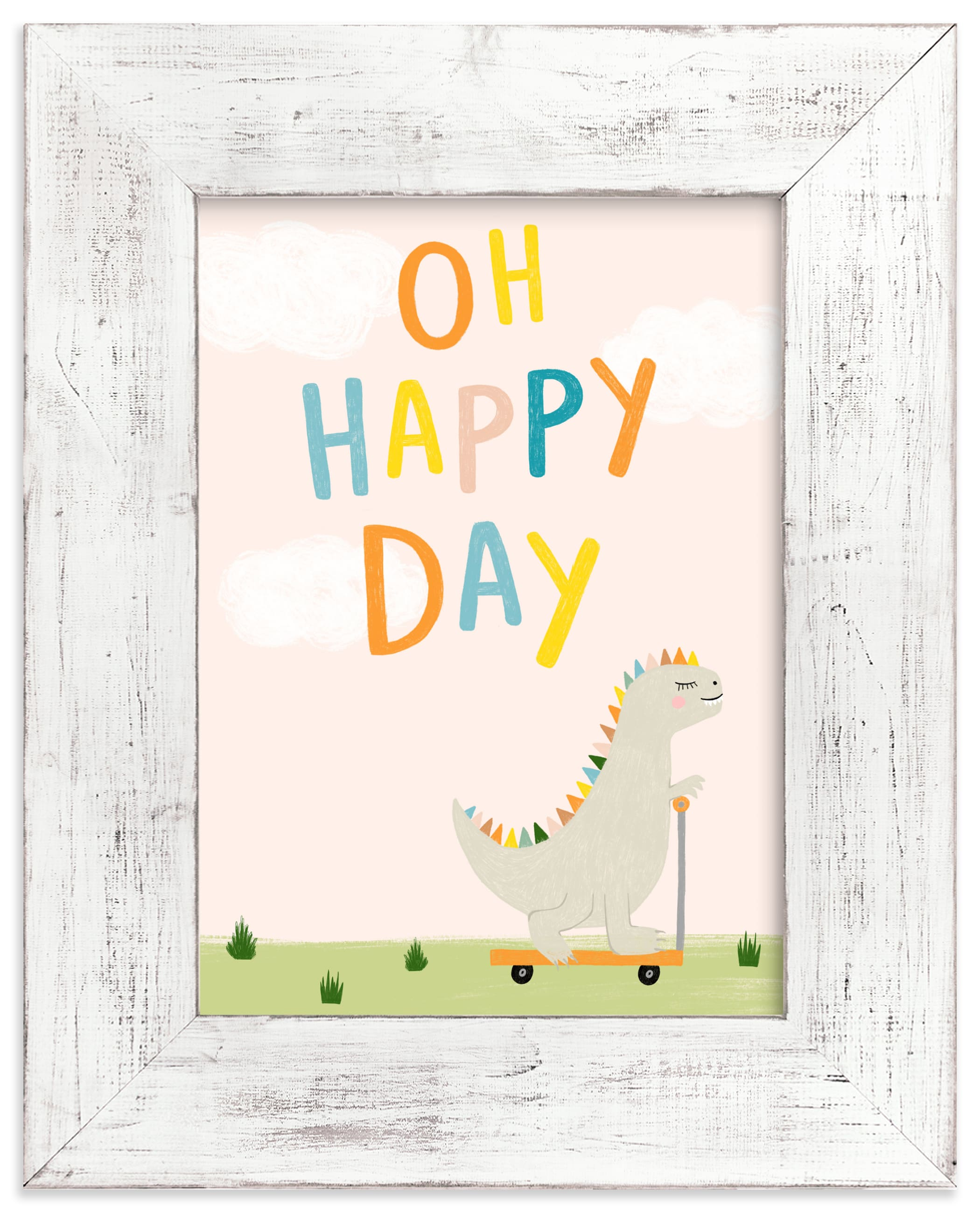 """Oh Happy Day"" - Limited Edition Art Print by Juliana Zimmermann in beautiful frame options and a variety of sizes."
