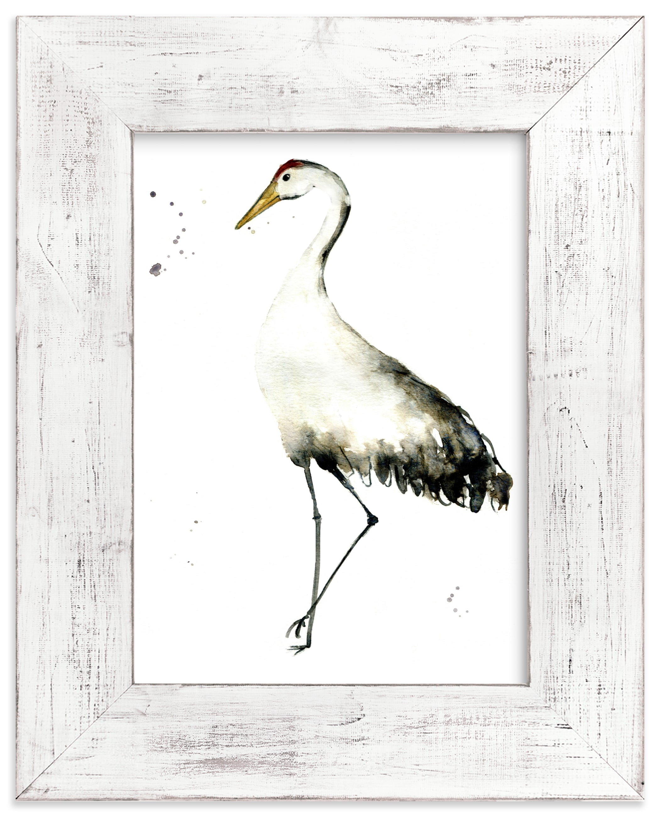 """Cranes on the go"" - Limited Edition Art Print by Lulaloo in beautiful frame options and a variety of sizes."