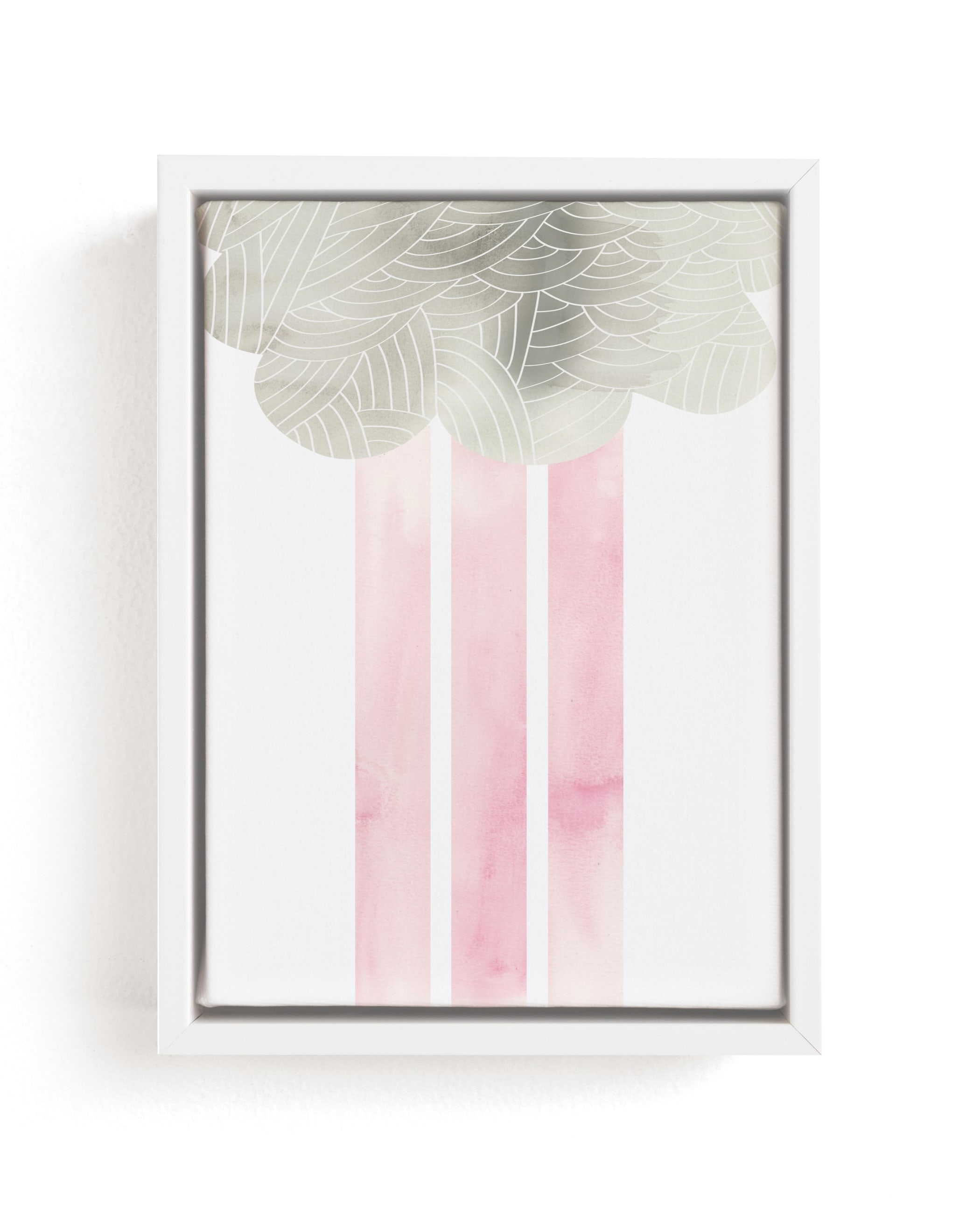 """""""Cloud and rain"""" - Limited Edition Art Print by Kanika Mathur in beautiful frame options and a variety of sizes."""