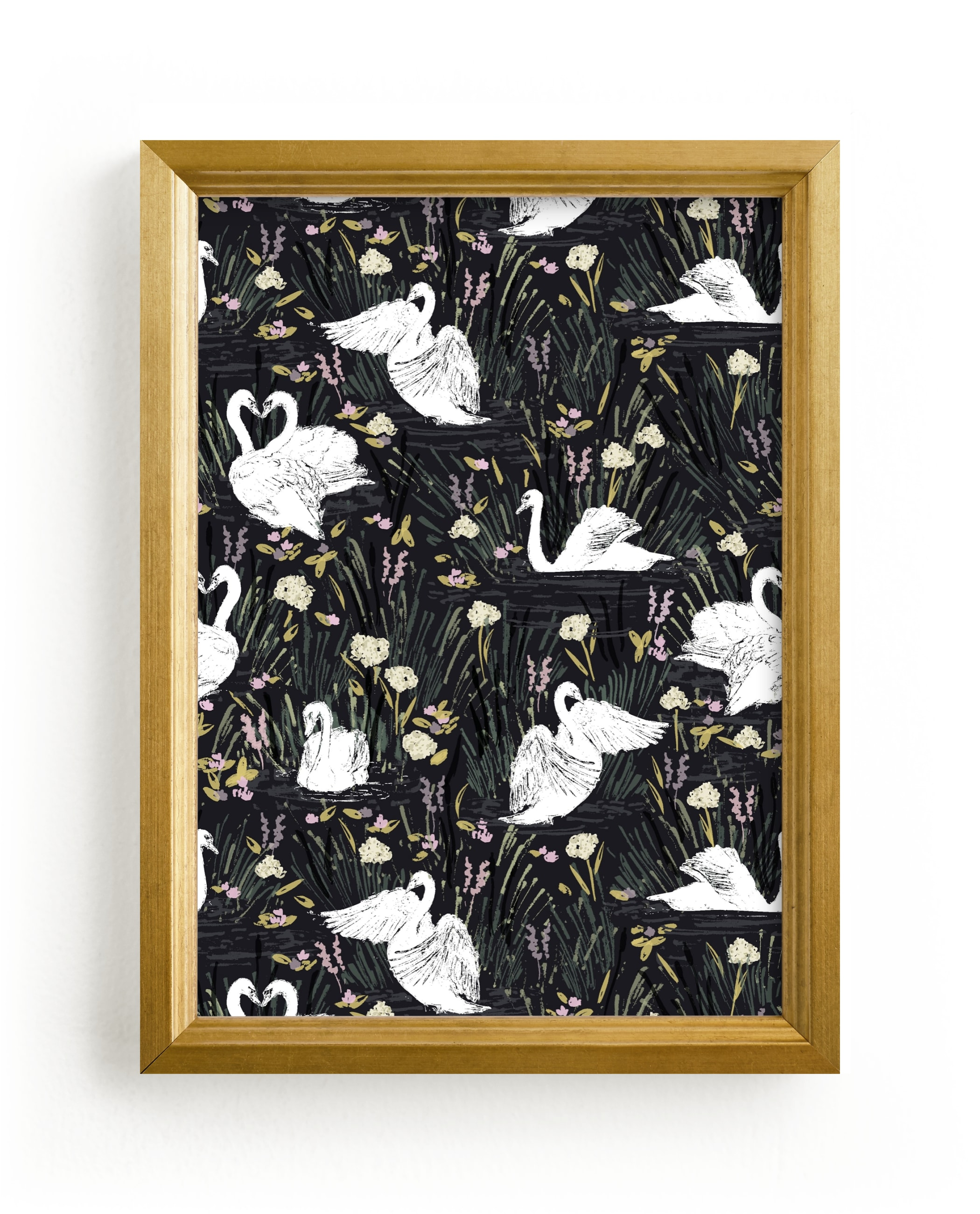 """""""swan lake"""" - Limited Edition Art Print by Shiny Penny Studio in beautiful frame options and a variety of sizes."""