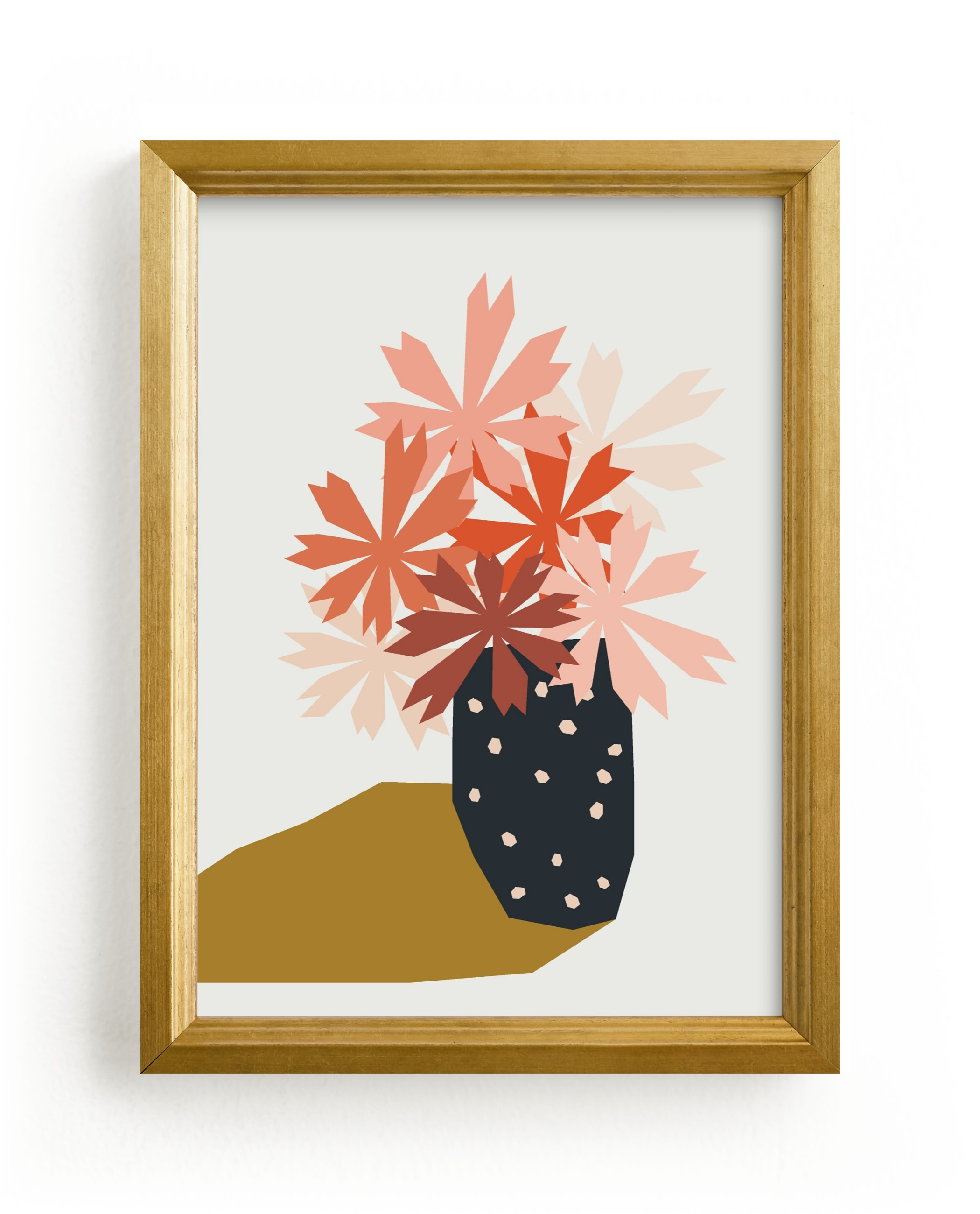 """""""polka dot vase"""" - Limited Edition Art Print by Morgan Kendall in beautiful frame options and a variety of sizes."""