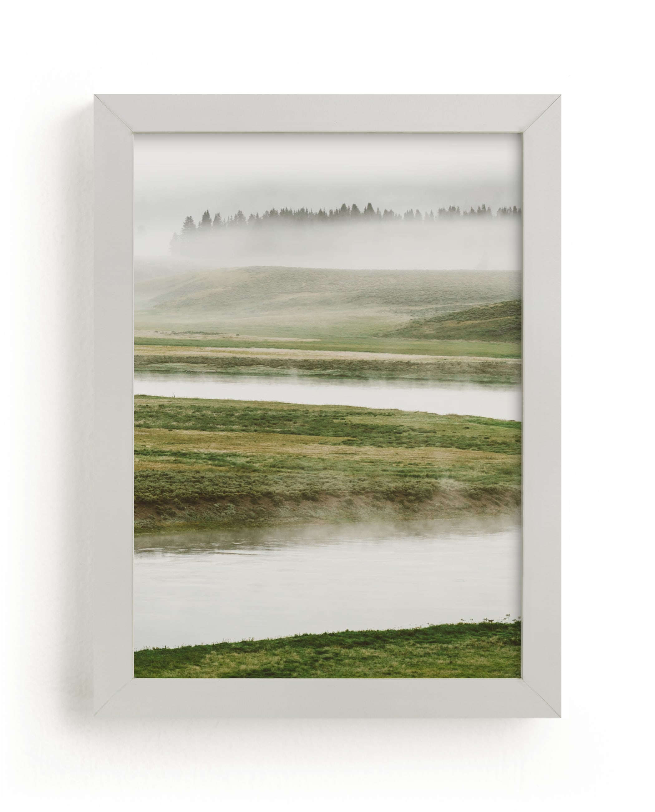 """Morning Mist"" - Limited Edition Art Print by Kamala Nahas in beautiful frame options and a variety of sizes."