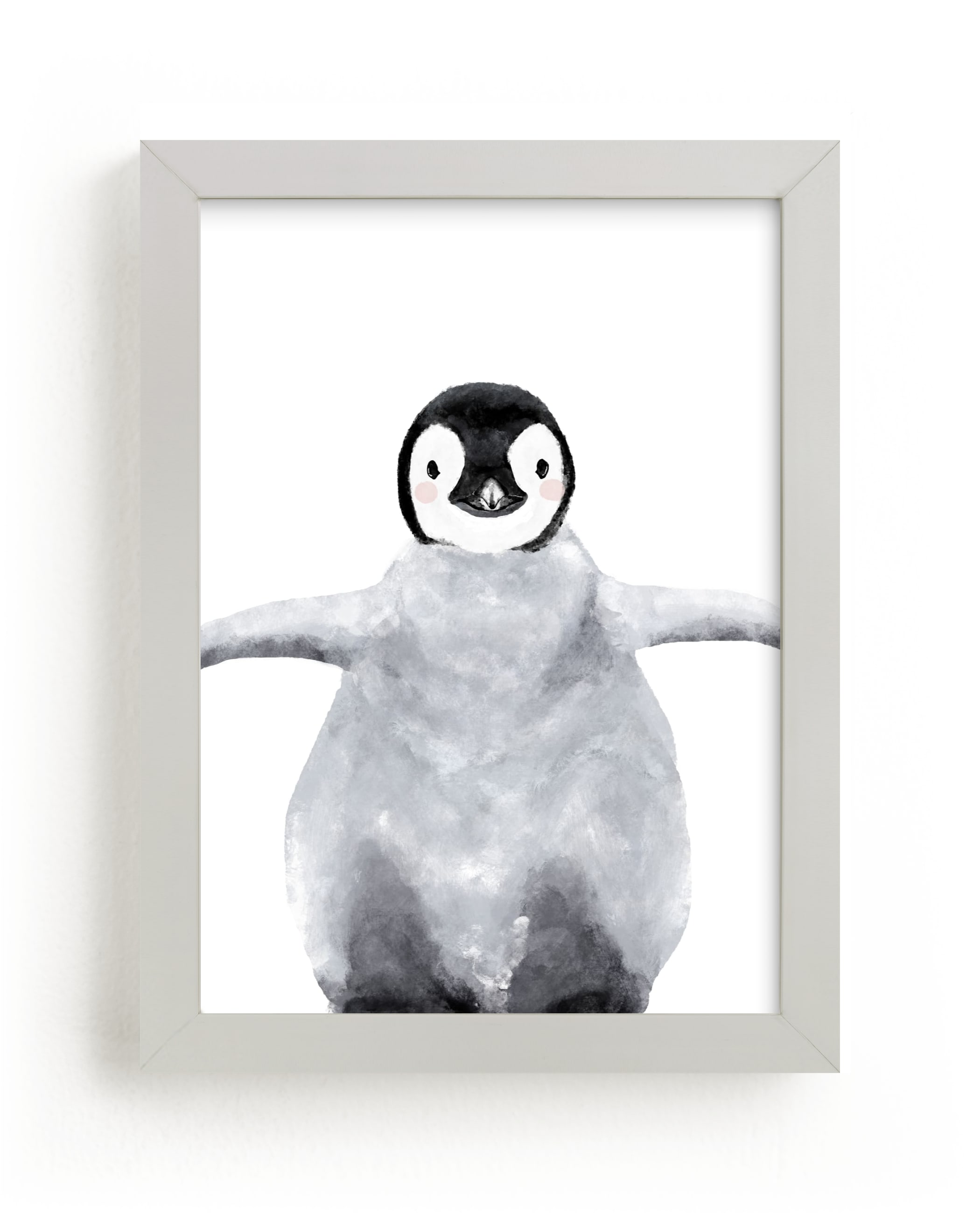 """""""Baby Animal Penguin"""" - Limited Edition Art Print by Cass Loh in beautiful frame options and a variety of sizes."""