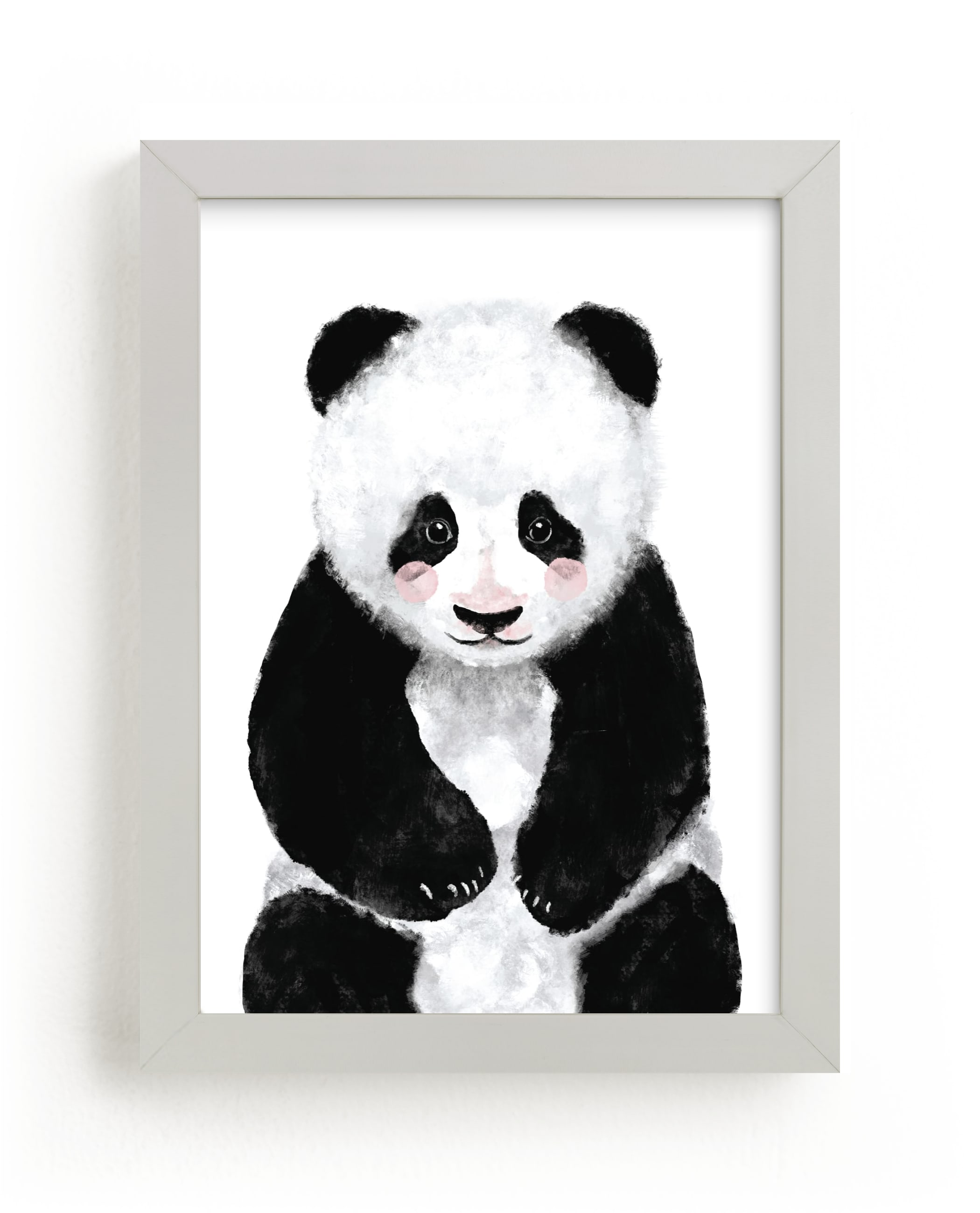 """""""Baby Panda"""" by Cass Loh in beautiful frame options and a variety of sizes."""