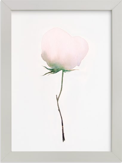 This is a white art by jinseikou called Budding Peony.