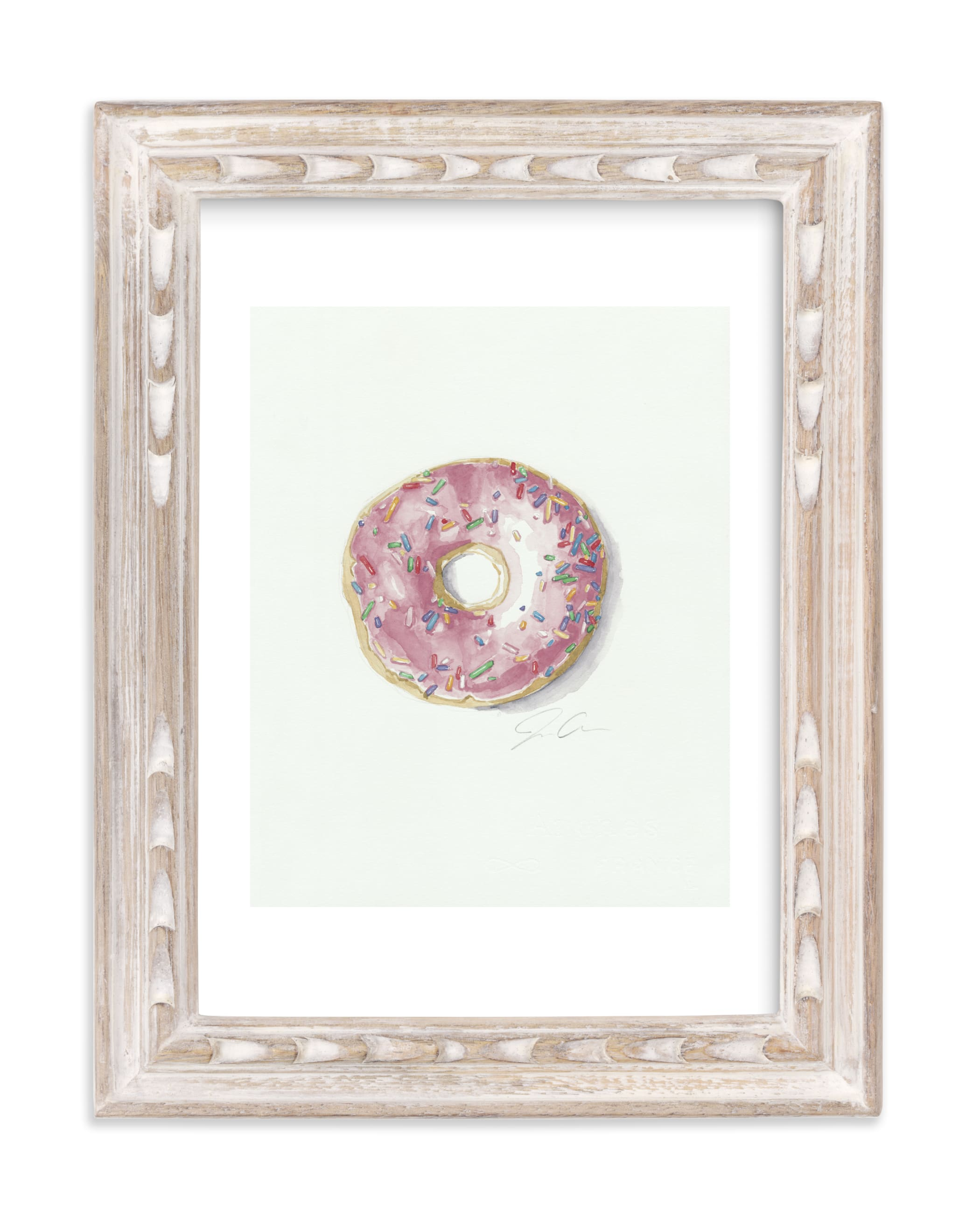 """""""Doughnut Bother Me"""" - Art Print by Jackie Graham in beautiful frame options and a variety of sizes."""