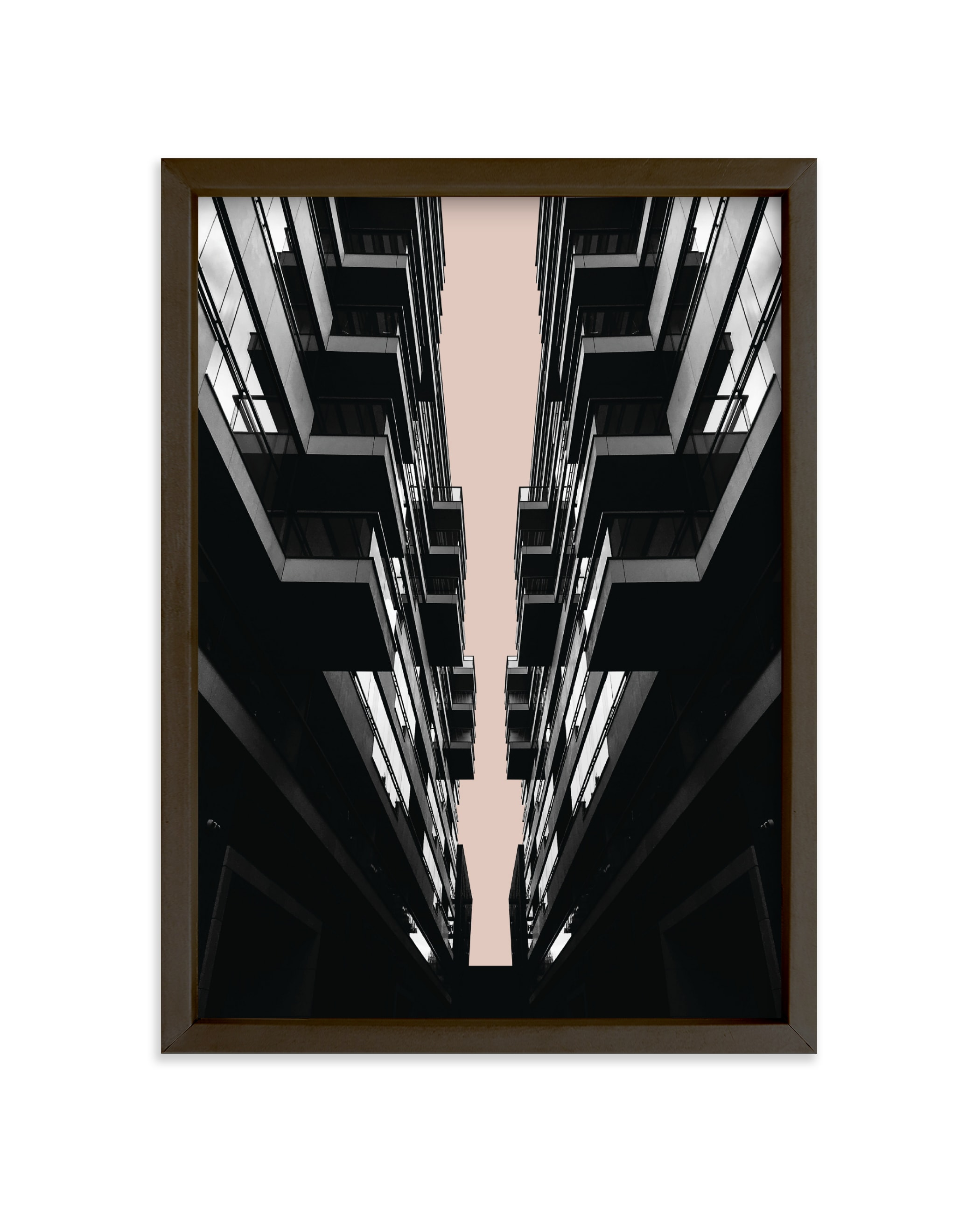 """""""Balconies"""" - Limited Edition Art Print by Rebecca Humphreys in beautiful frame options and a variety of sizes."""