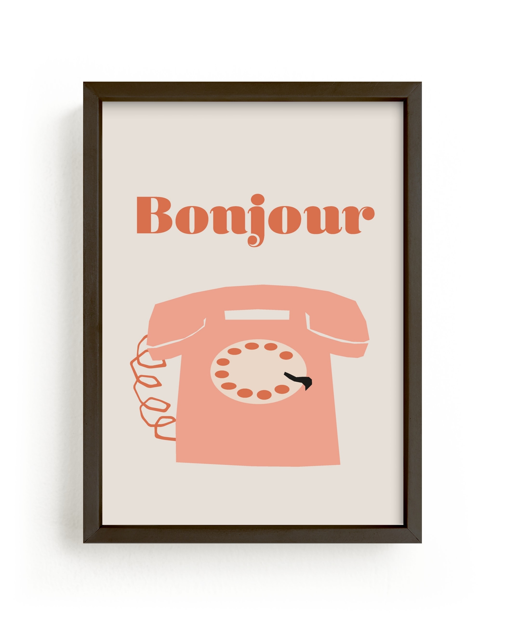 """""""french phone"""" - Limited Edition Art Print by Morgan Kendall in beautiful frame options and a variety of sizes."""