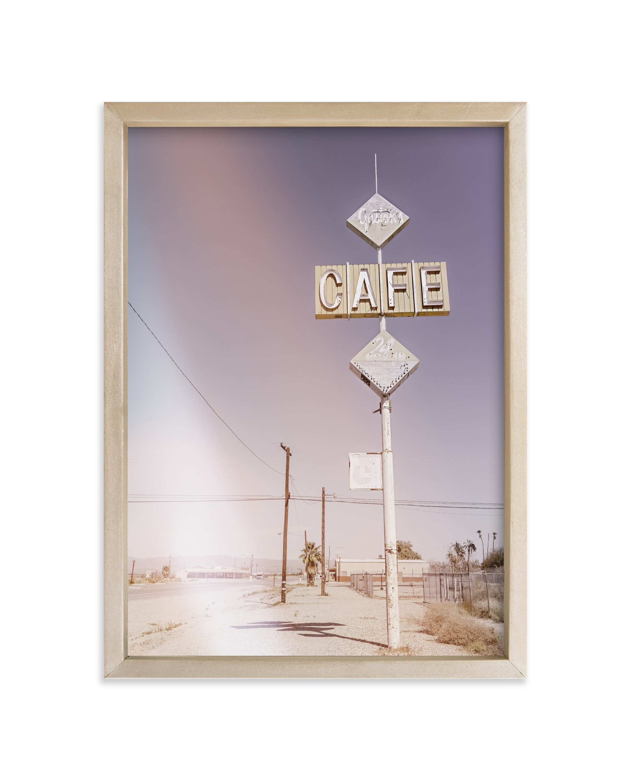 """""""Desert Cafe"""" - Limited Edition Art Print by Lissabeth Anglin in beautiful frame options and a variety of sizes."""