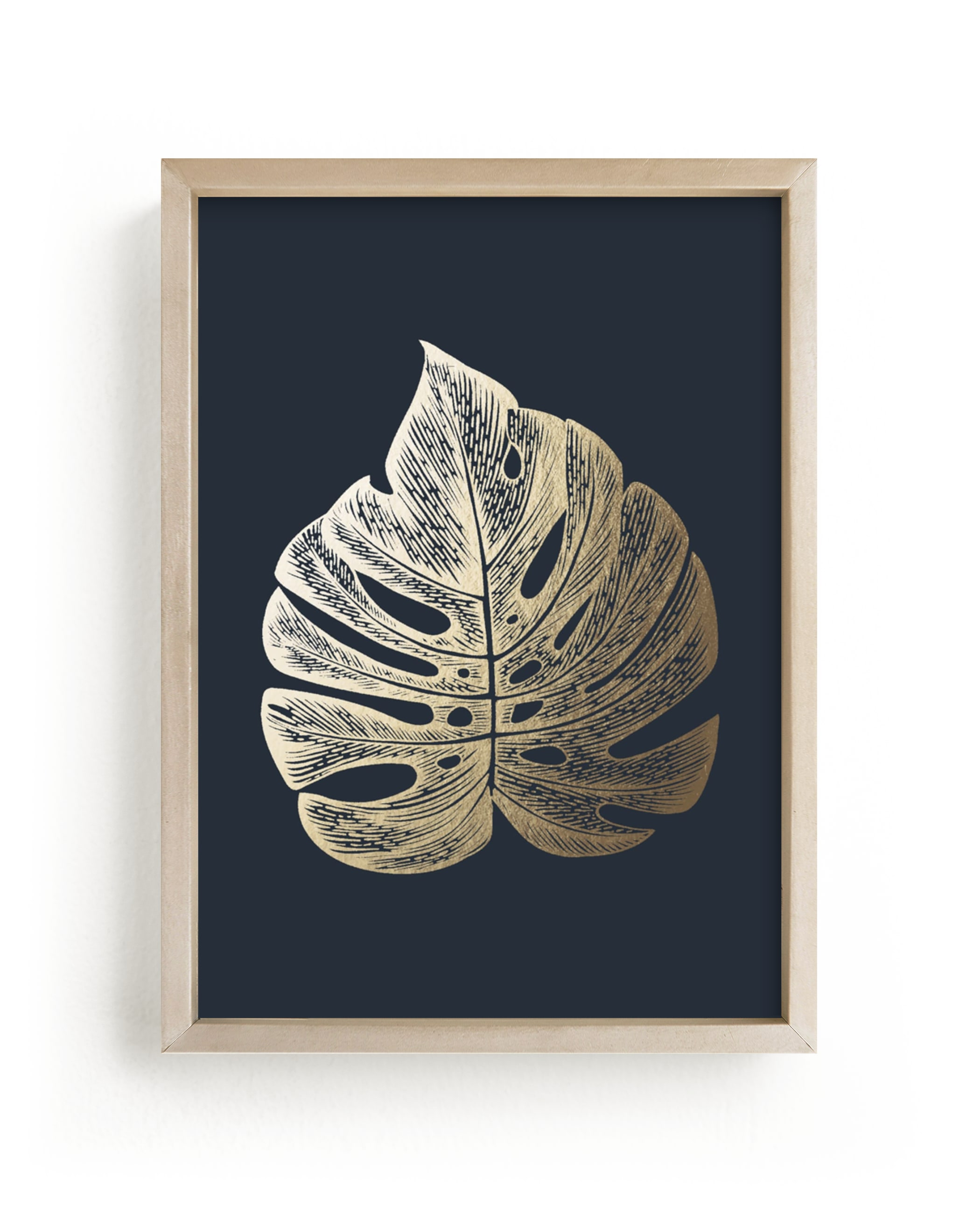 """""""Leaf Study 3"""" - [non-custom] Foil-pressed Art Print by Annie Clark in beautiful frame options and a variety of sizes."""