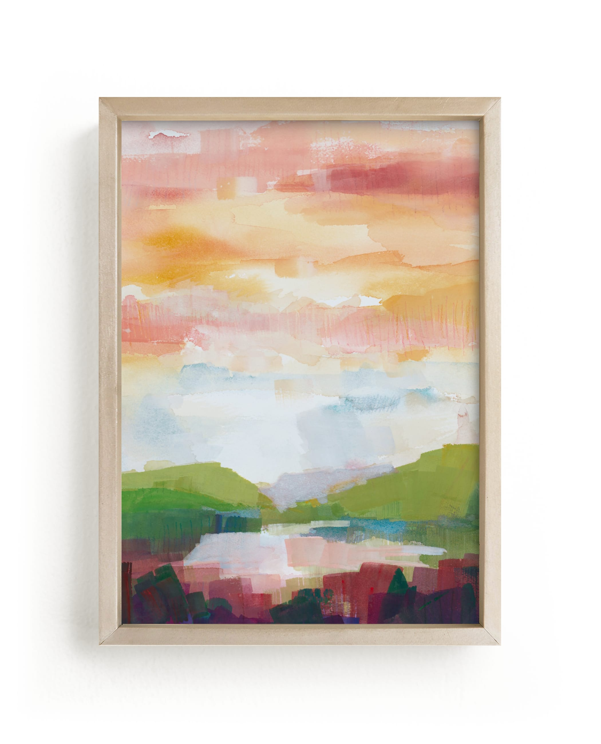 """Leaving Ojai"" - Limited Edition Art Print by sue prue in beautiful frame options and a variety of sizes."