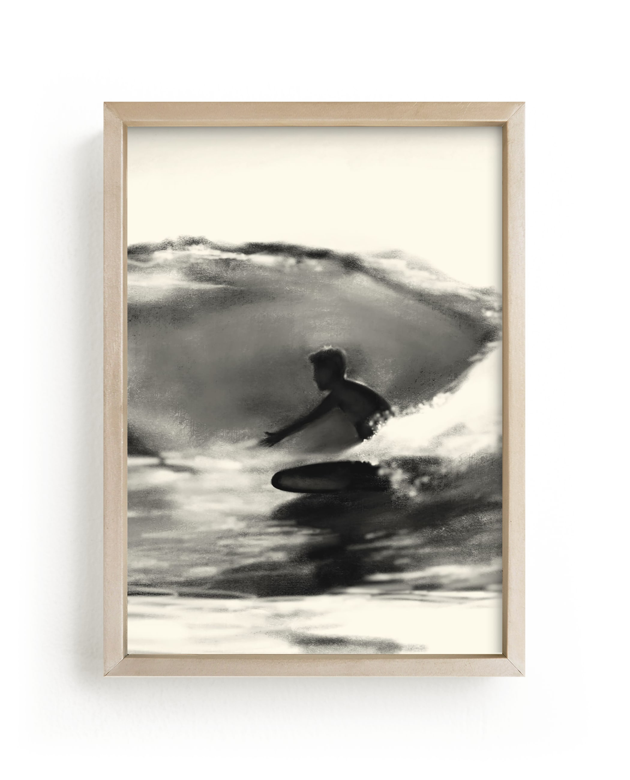 """""""Wave Rider One"""" - Limited Edition Art Print by Jenny Partrite in beautiful frame options and a variety of sizes."""