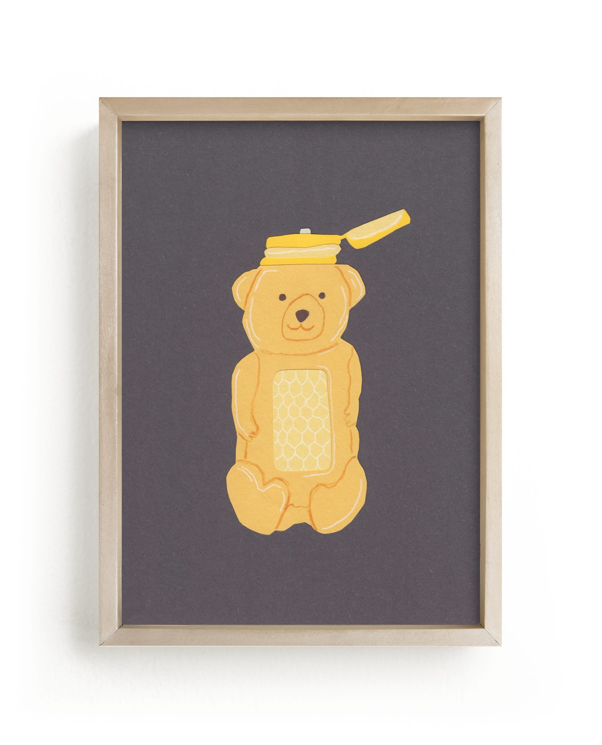 """Honey Bear"" - Limited Edition Art Print by Elliot Stokes in beautiful frame options and a variety of sizes."