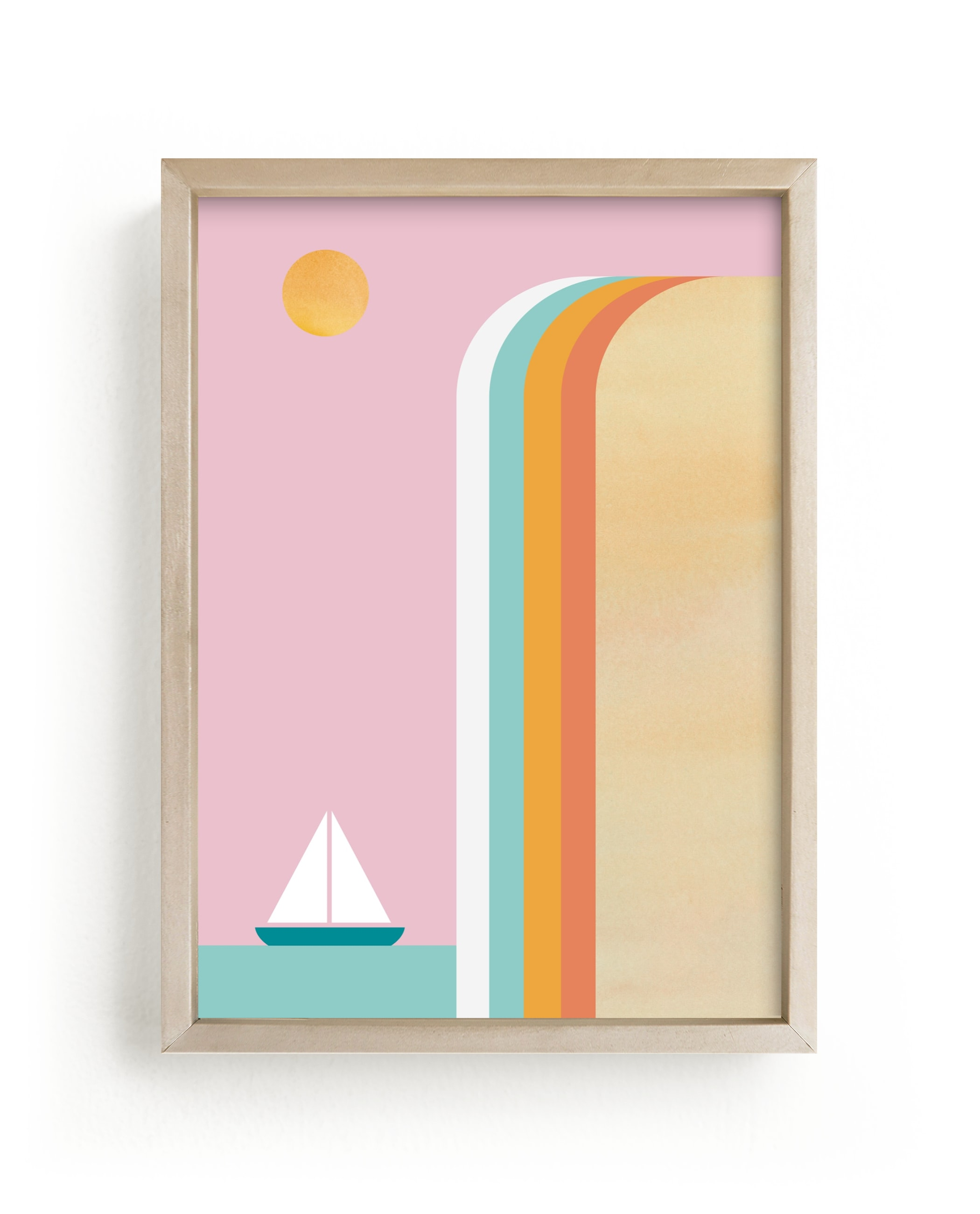 """""""Smooth Sailin"""" - Limited Edition Art Print by sue prue in beautiful frame options and a variety of sizes."""