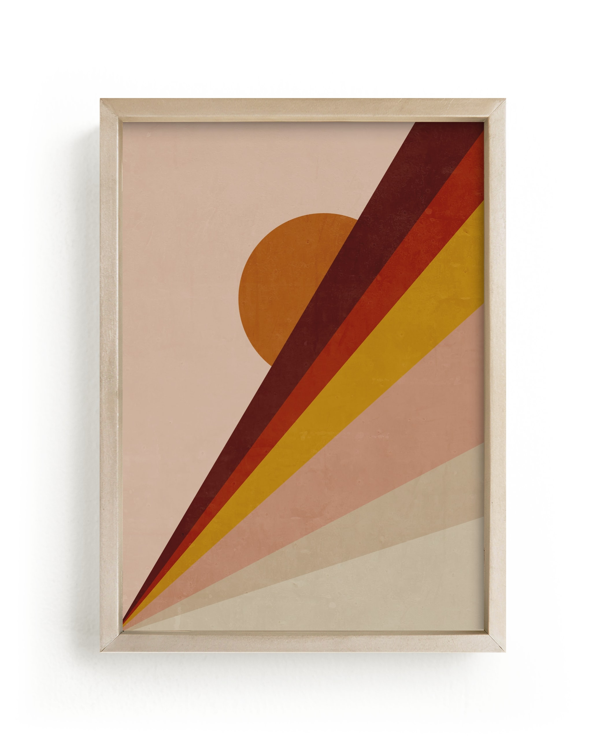 """Abstract Sunrise"" - Limited Edition Art Print by Lucrecia in beautiful frame options and a variety of sizes."