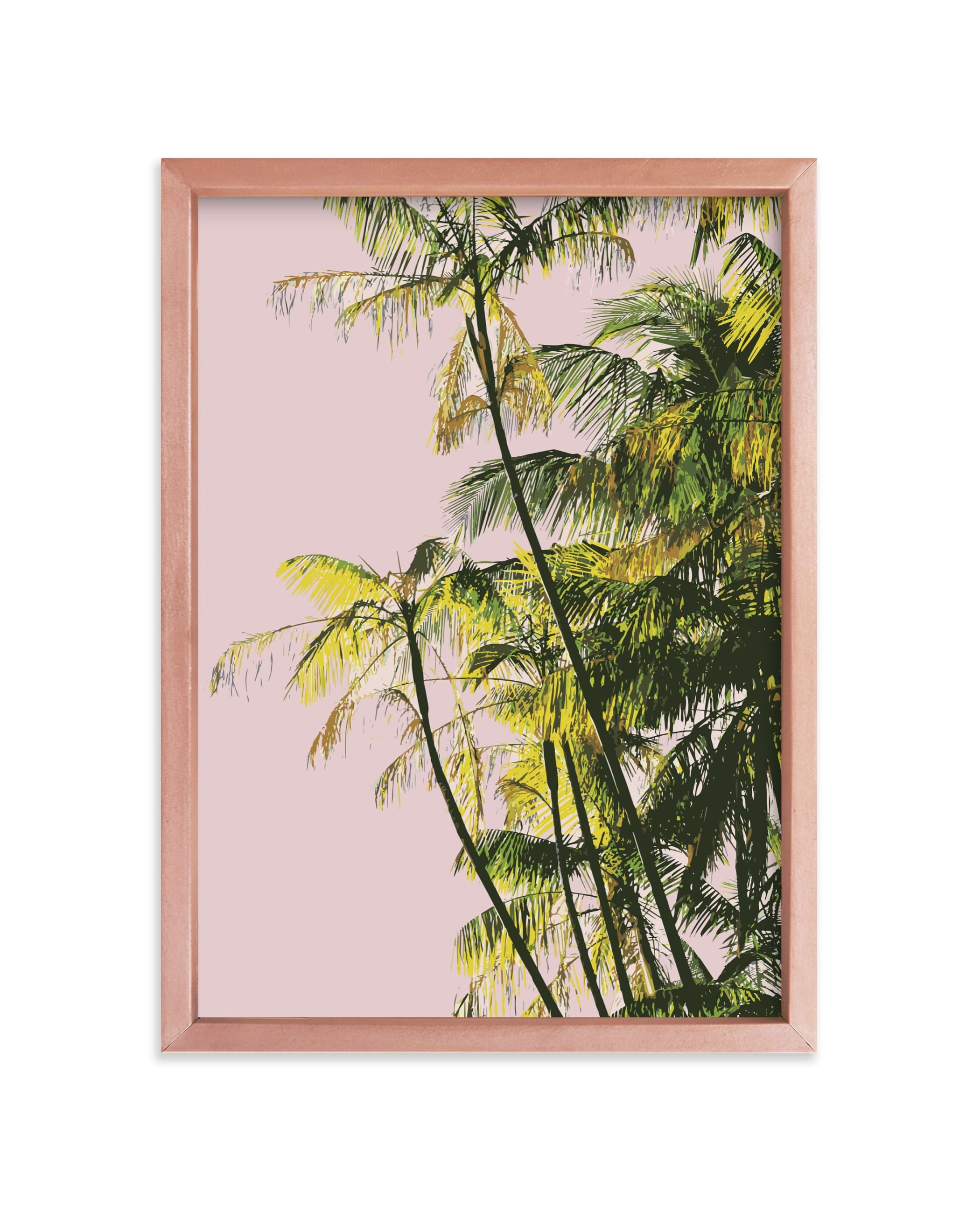 """""""Poster Palms"""" - Limited Edition Art Print by Catherine Culvenor in beautiful frame options and a variety of sizes."""