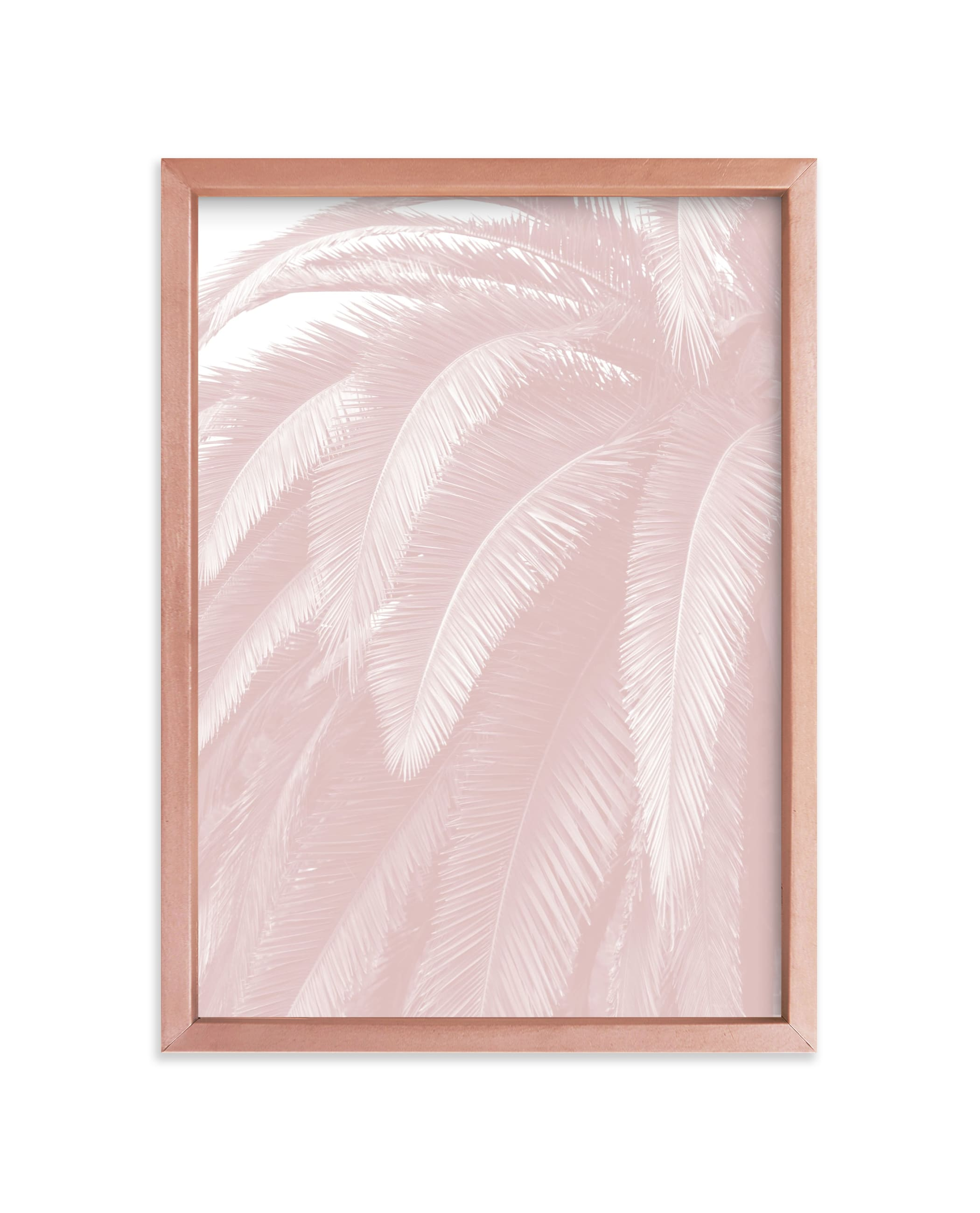 """Soft Palm Top"" - Limited Edition Art Print by Owl and Toad in beautiful frame options and a variety of sizes."