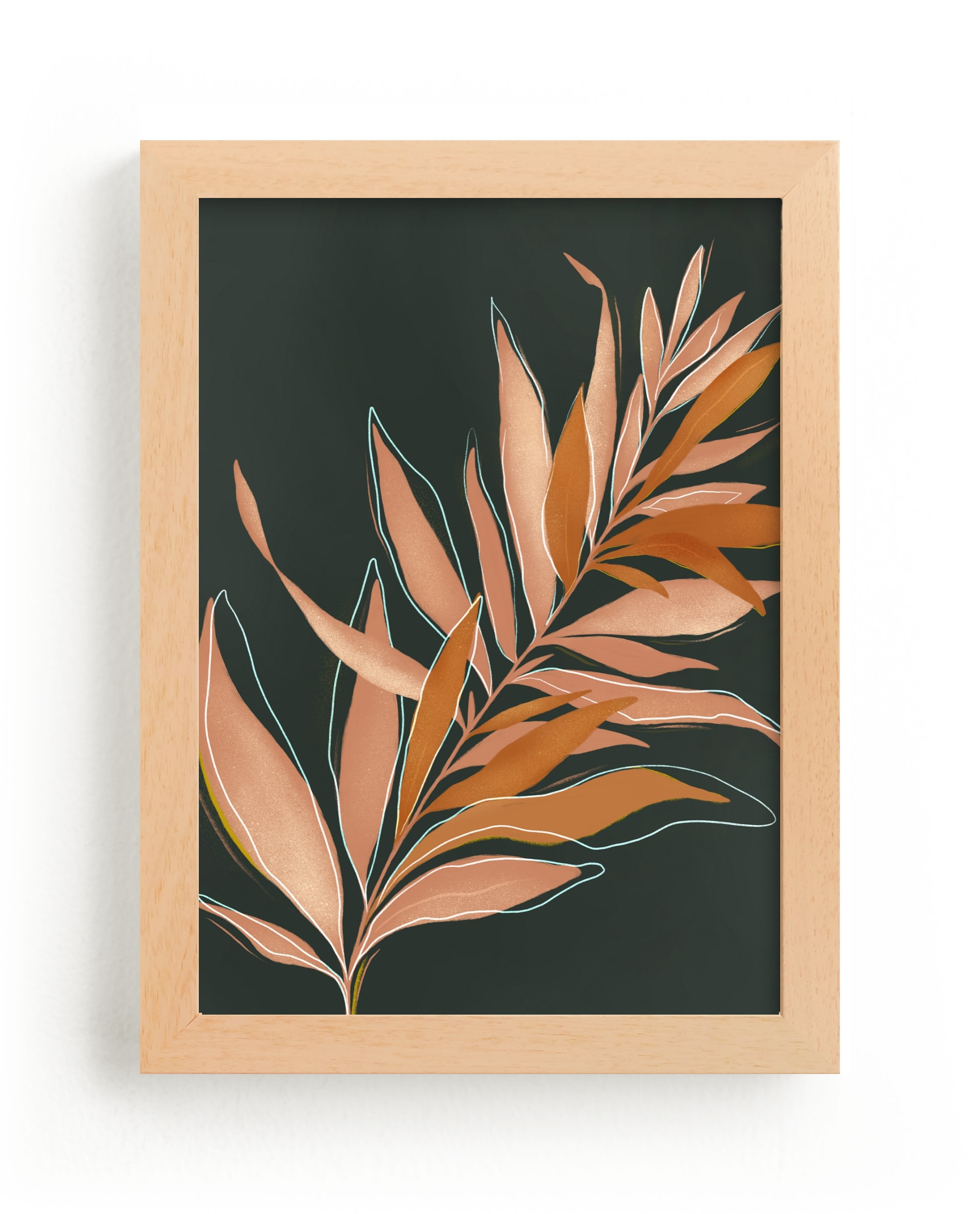 """""""Falling Fern"""" - Limited Edition Art Print by Julie Murray in beautiful frame options and a variety of sizes."""