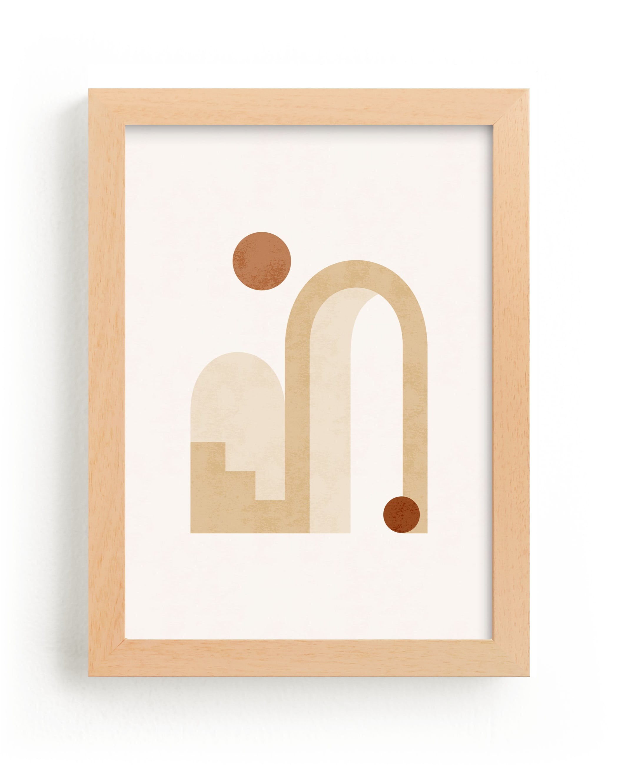 """""""Rustic Geometry 3"""" - Limited Edition Art Print by Iveta Angelova in beautiful frame options and a variety of sizes."""