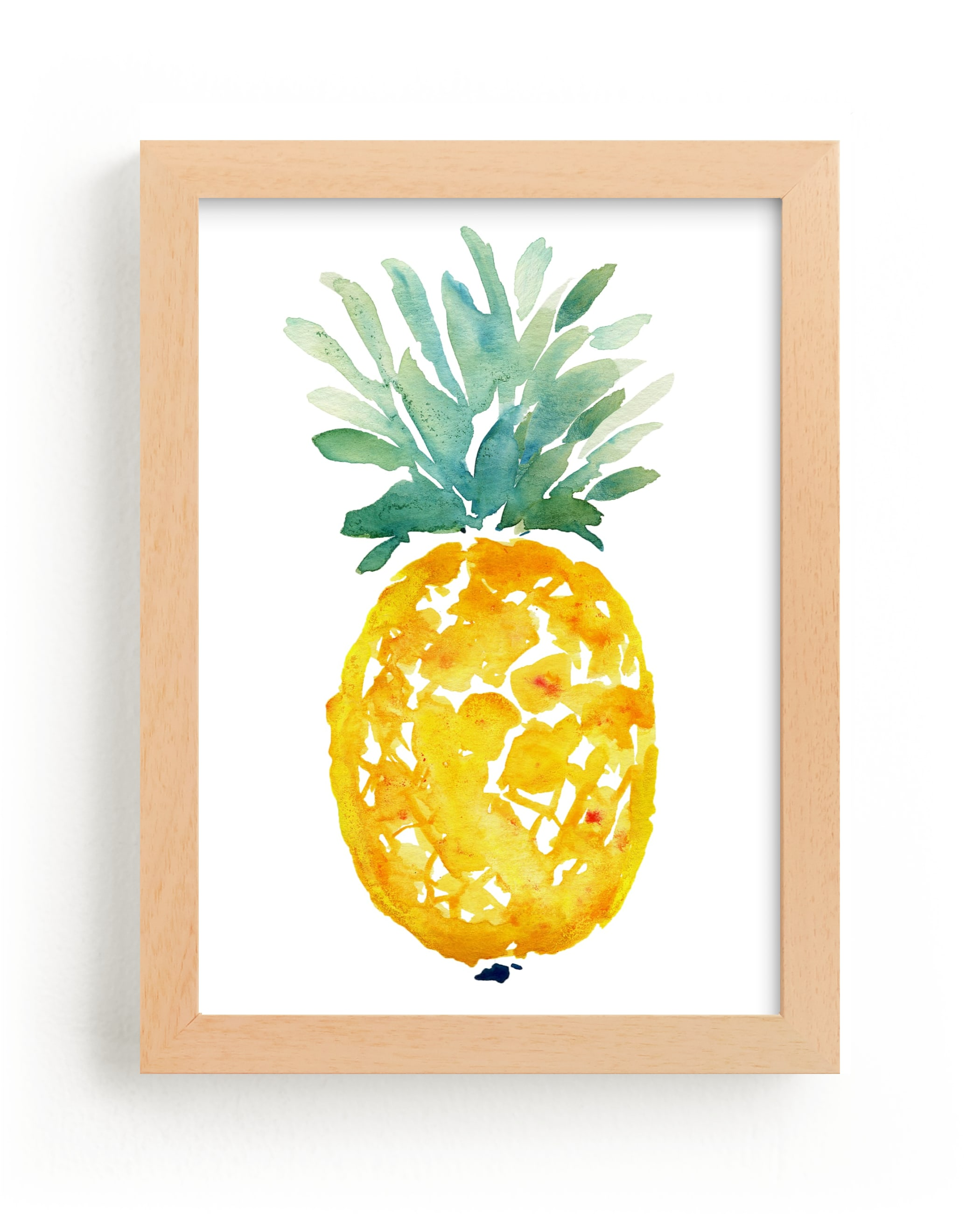 """ananas "" - Limited Edition Art Print by Kiana Lee in beautiful frame options and a variety of sizes."