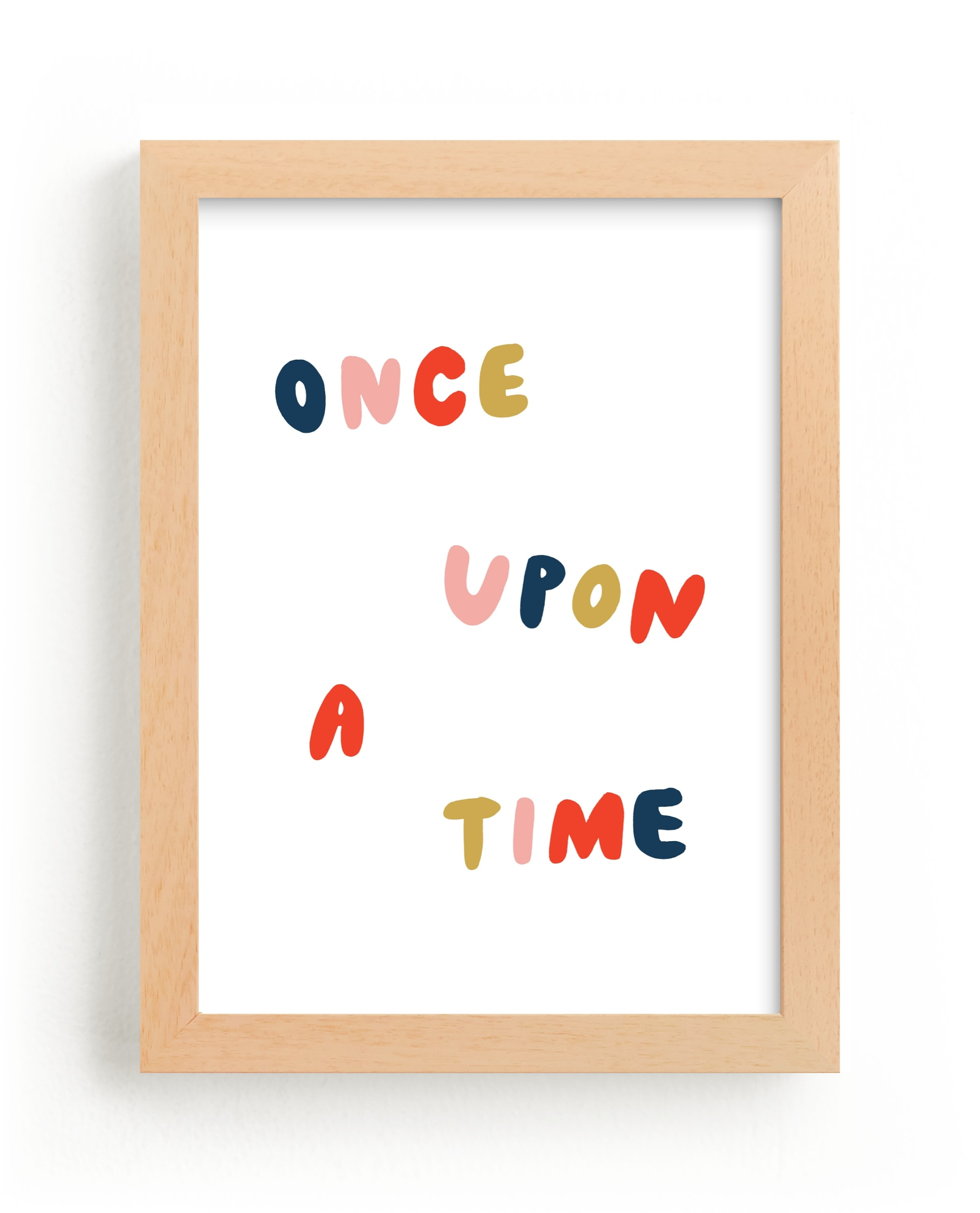 """""""Once Upon a Time"""" - Limited Edition Art Print by June Letters Studio in beautiful frame options and a variety of sizes."""