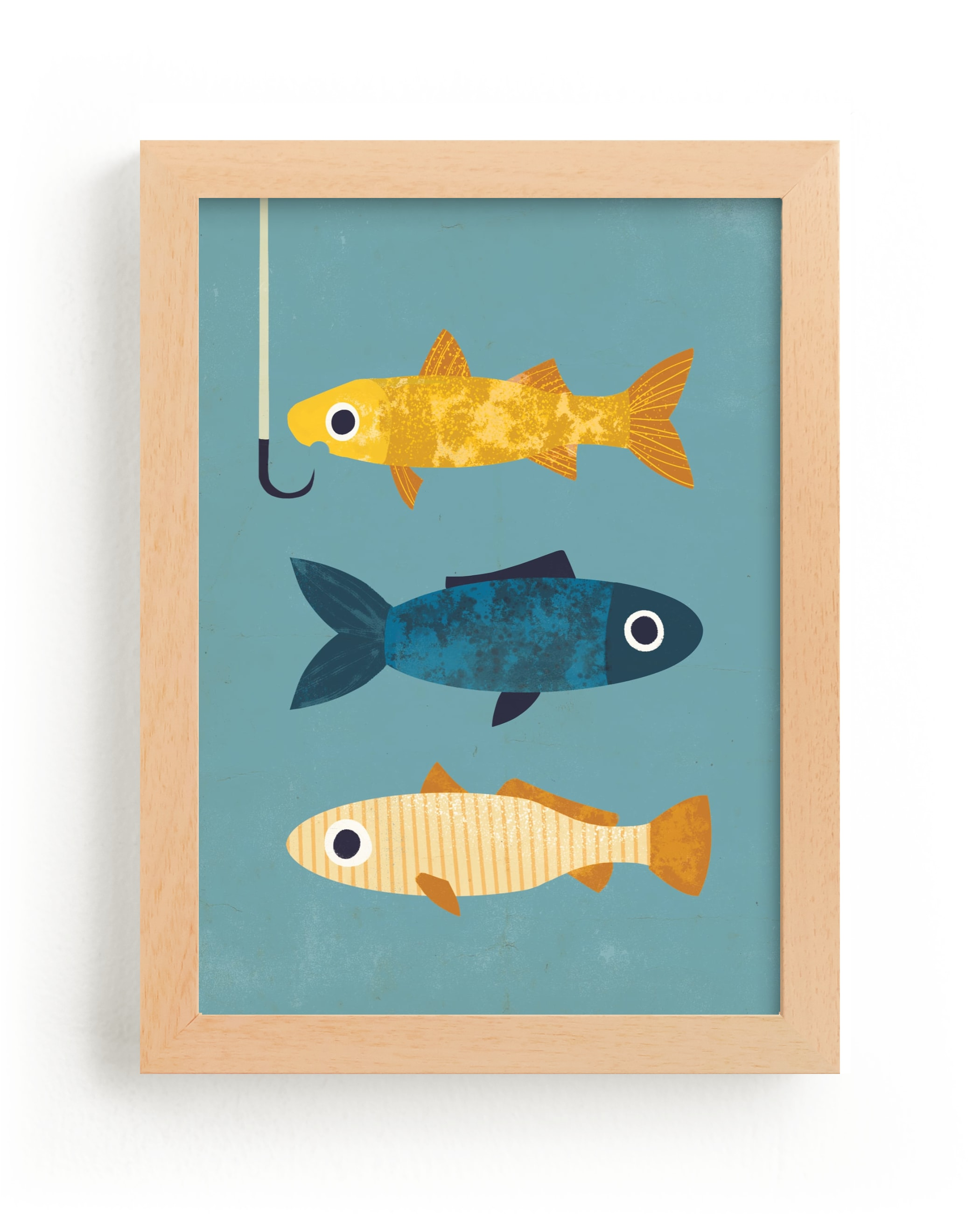 """1 Fish, 2 Fish, 3 Fish"" - Limited Edition Art Print by Laura Mitchell in beautiful frame options and a variety of sizes."
