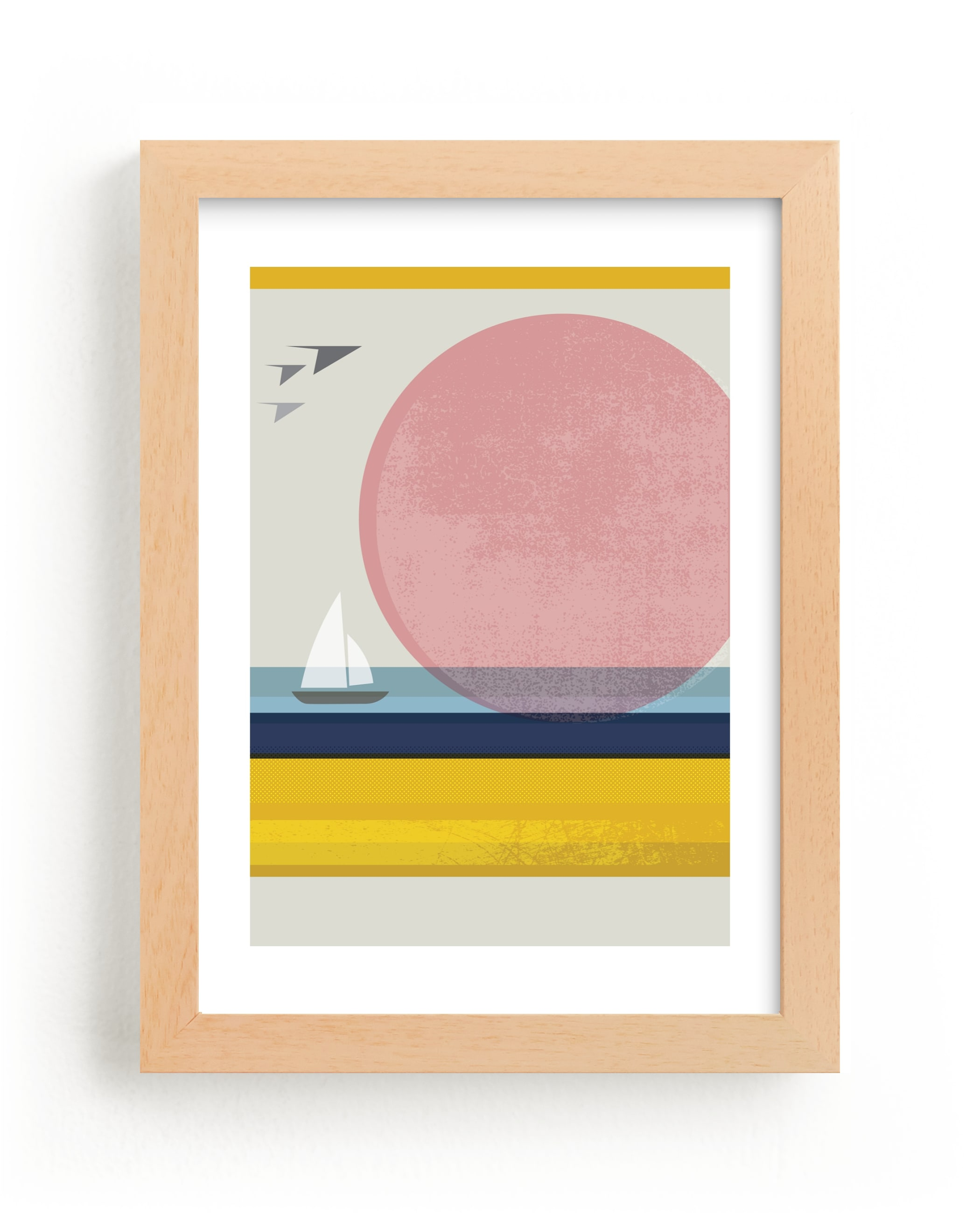 """""""pink horizon"""" - Limited Edition Art Print by Kate Capone in beautiful frame options and a variety of sizes."""