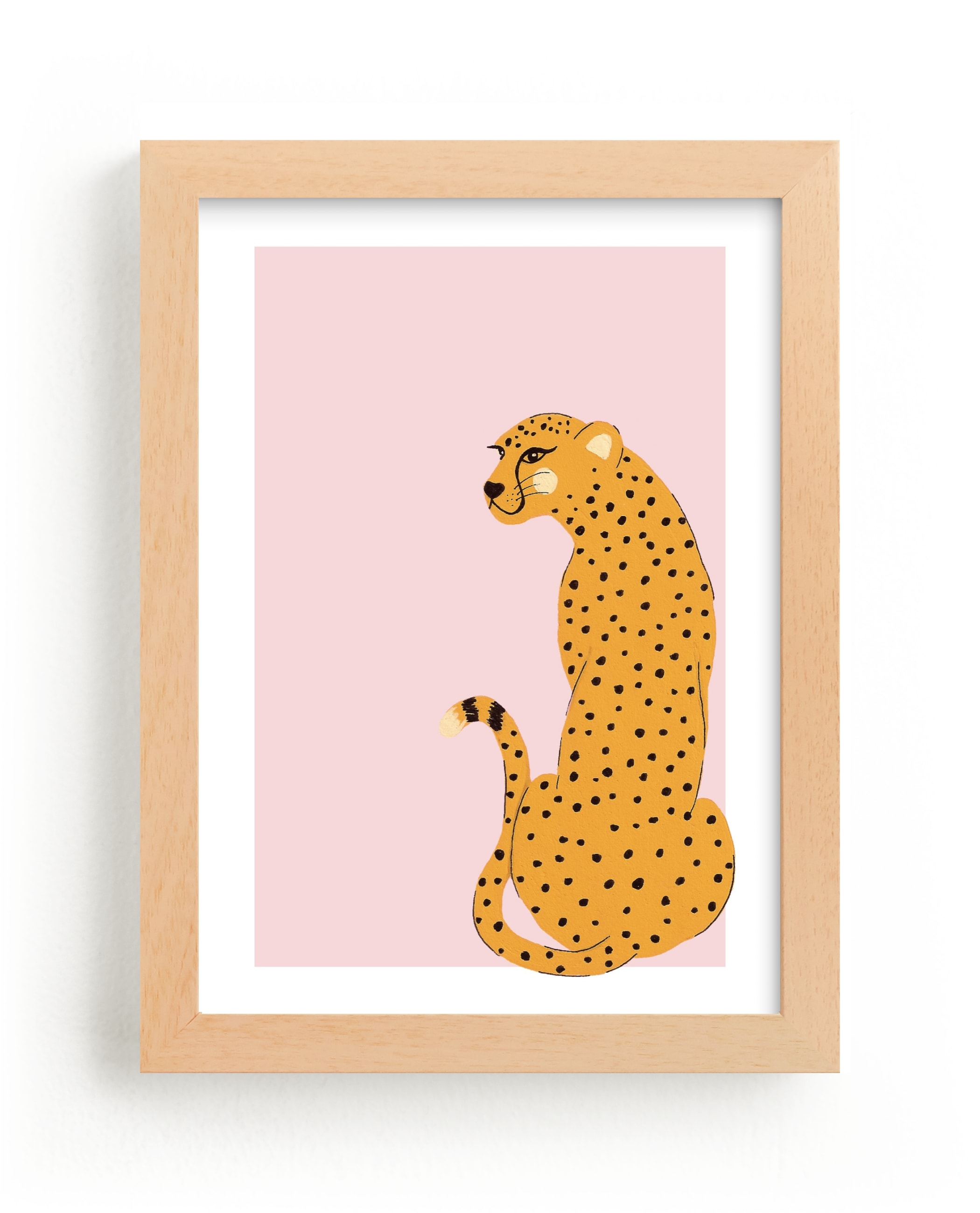 """""""Gepard"""" - Limited Edition Art Print by Juliana Zimmermann in beautiful frame options and a variety of sizes."""