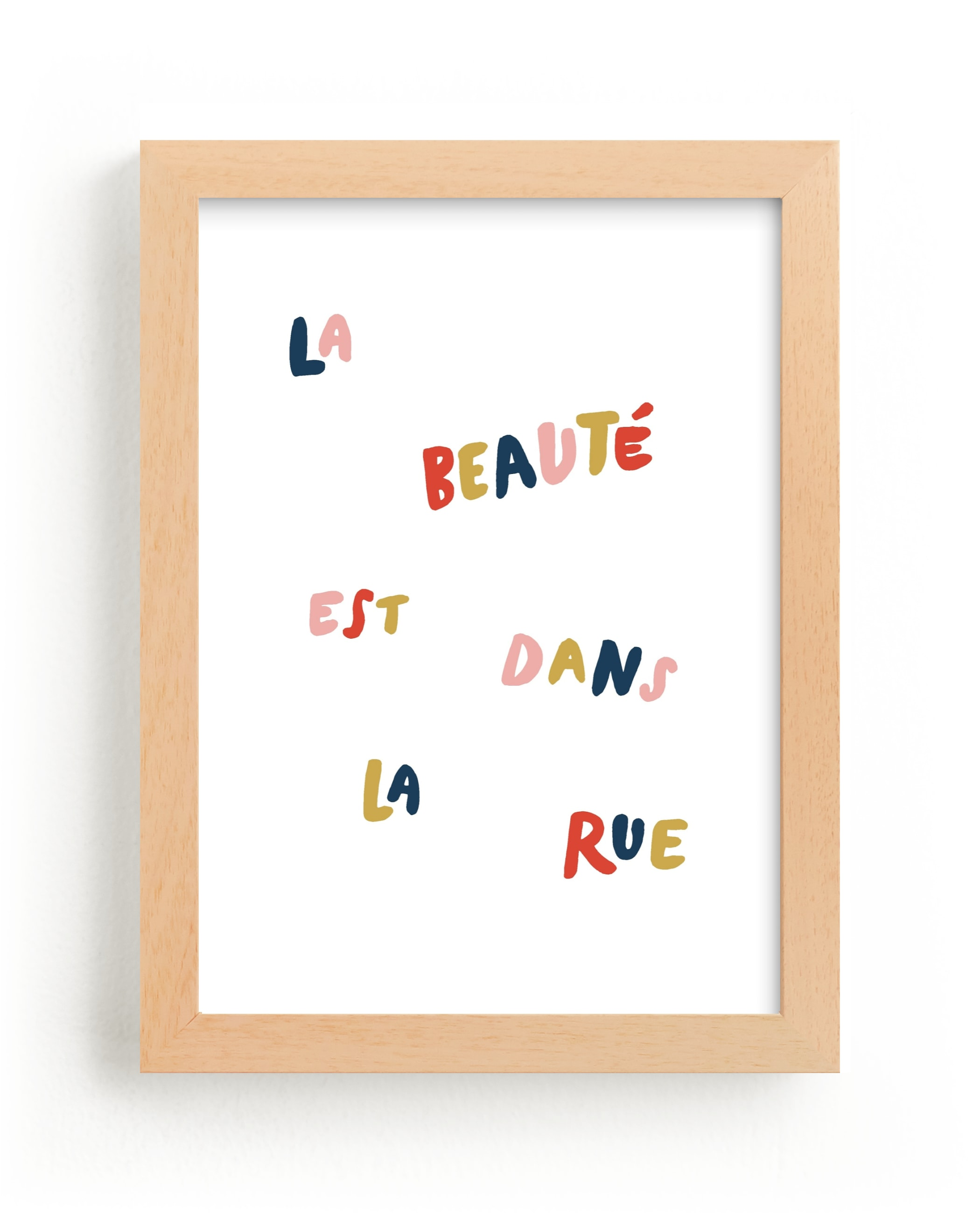 """""""Beauty is in the Street"""" - Limited Edition Art Print by June Letters Studio in beautiful frame options and a variety of sizes."""