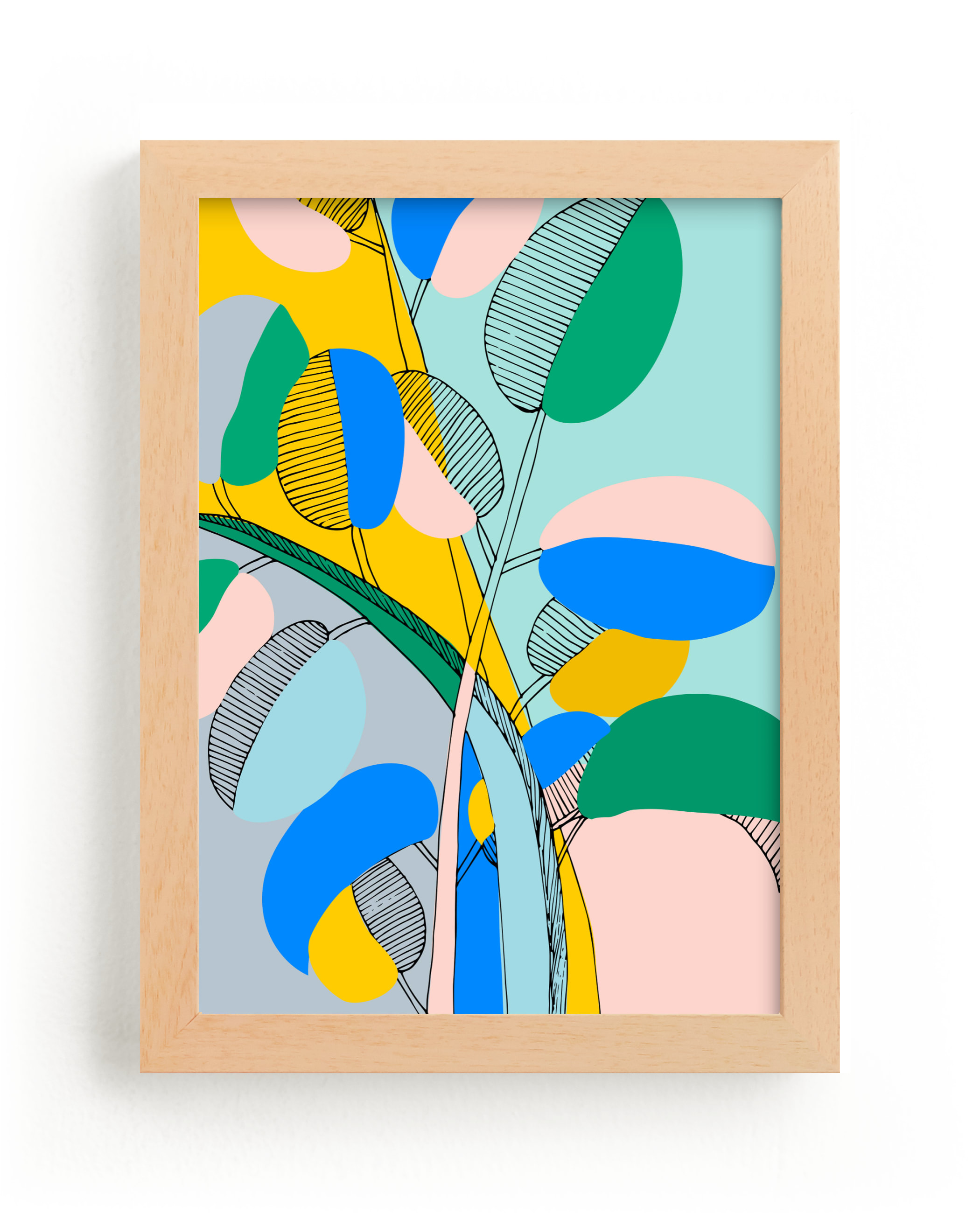 """""""Plant Paradise #2"""" - Limited Edition Art Print by Nikita Jariwala in beautiful frame options and a variety of sizes."""