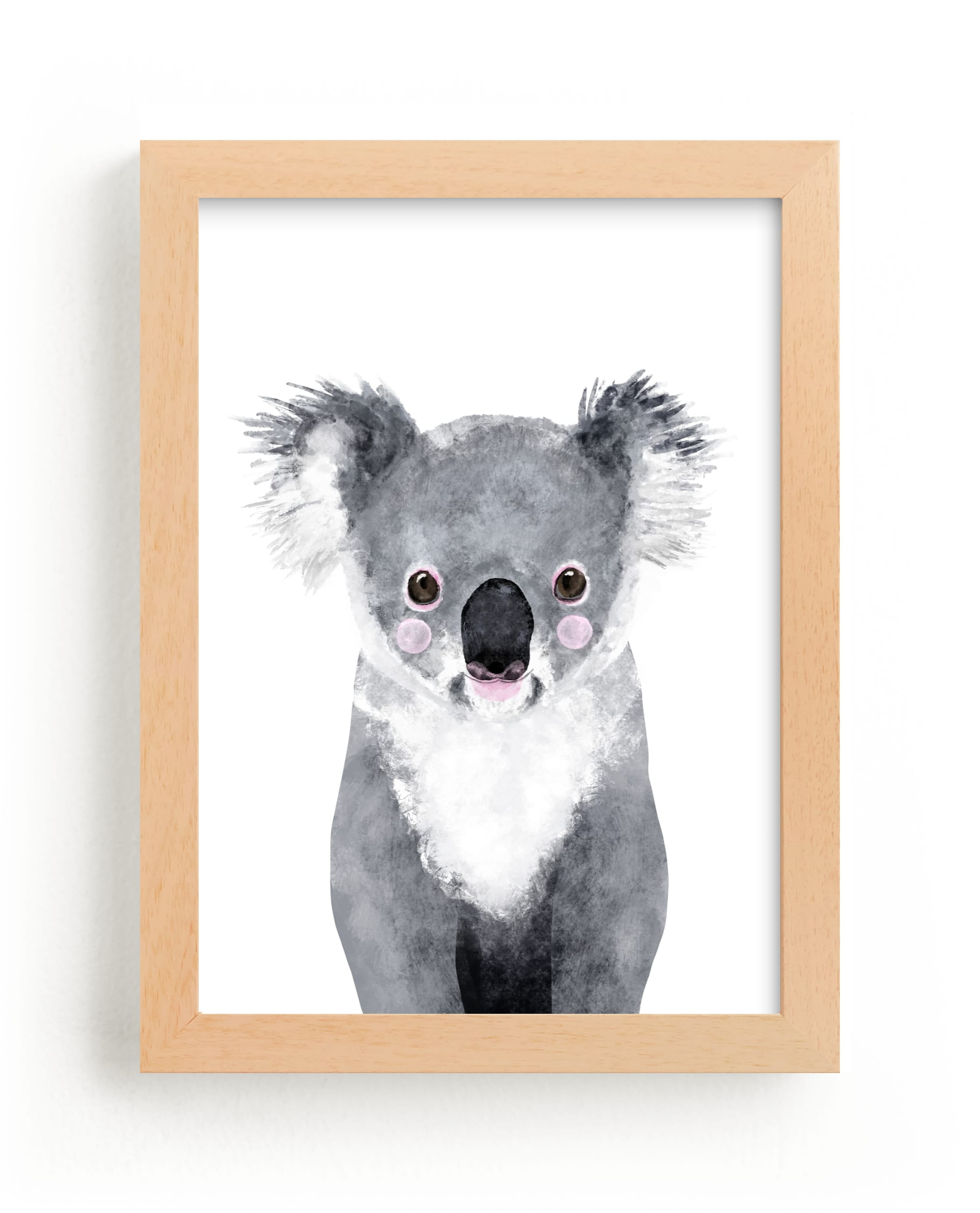 """""""Baby Koala"""" by Cass Loh in beautiful frame options and a variety of sizes."""