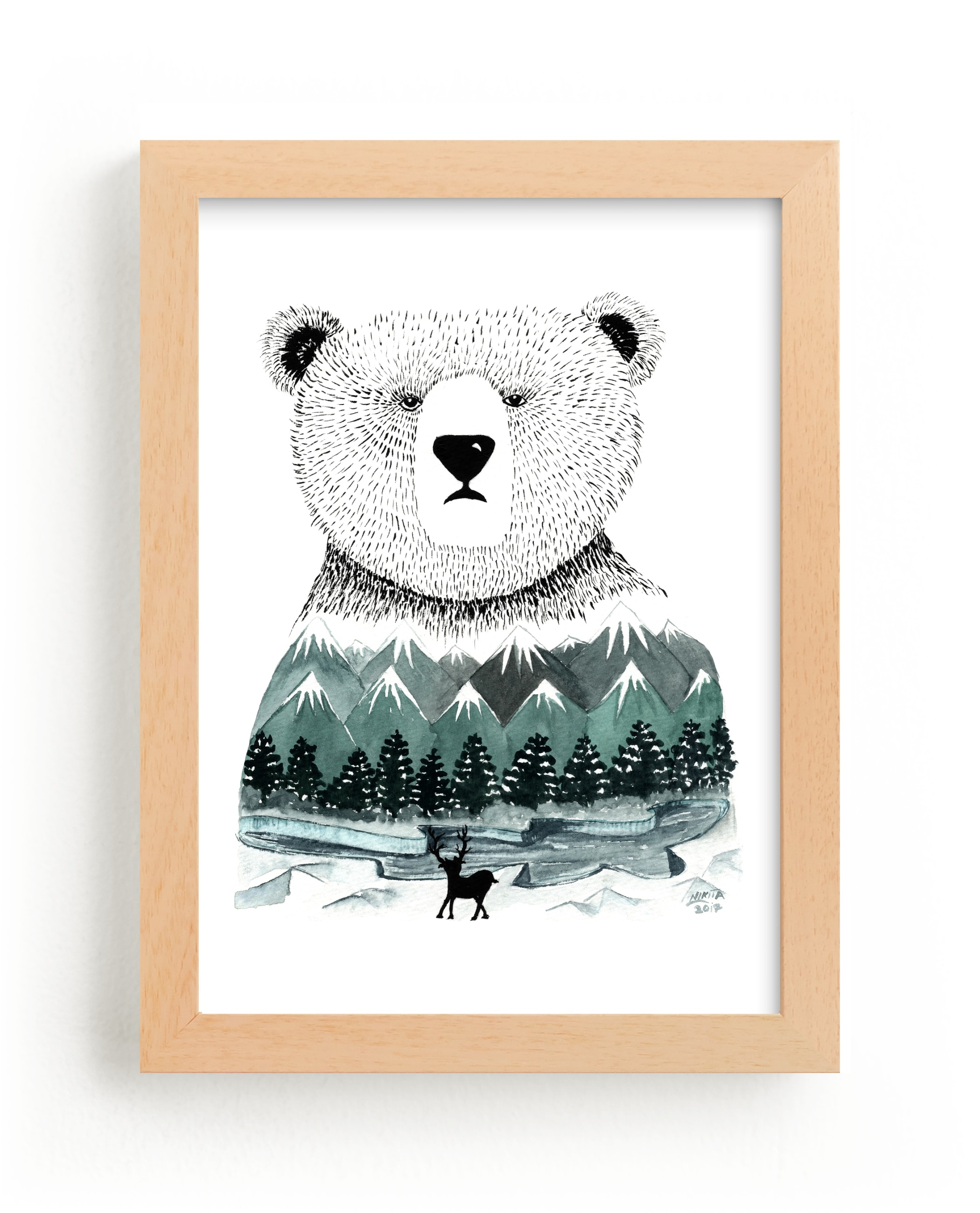 """""""Nordic Pal"""" - Art Print by Nikita Jariwala in beautiful frame options and a variety of sizes."""