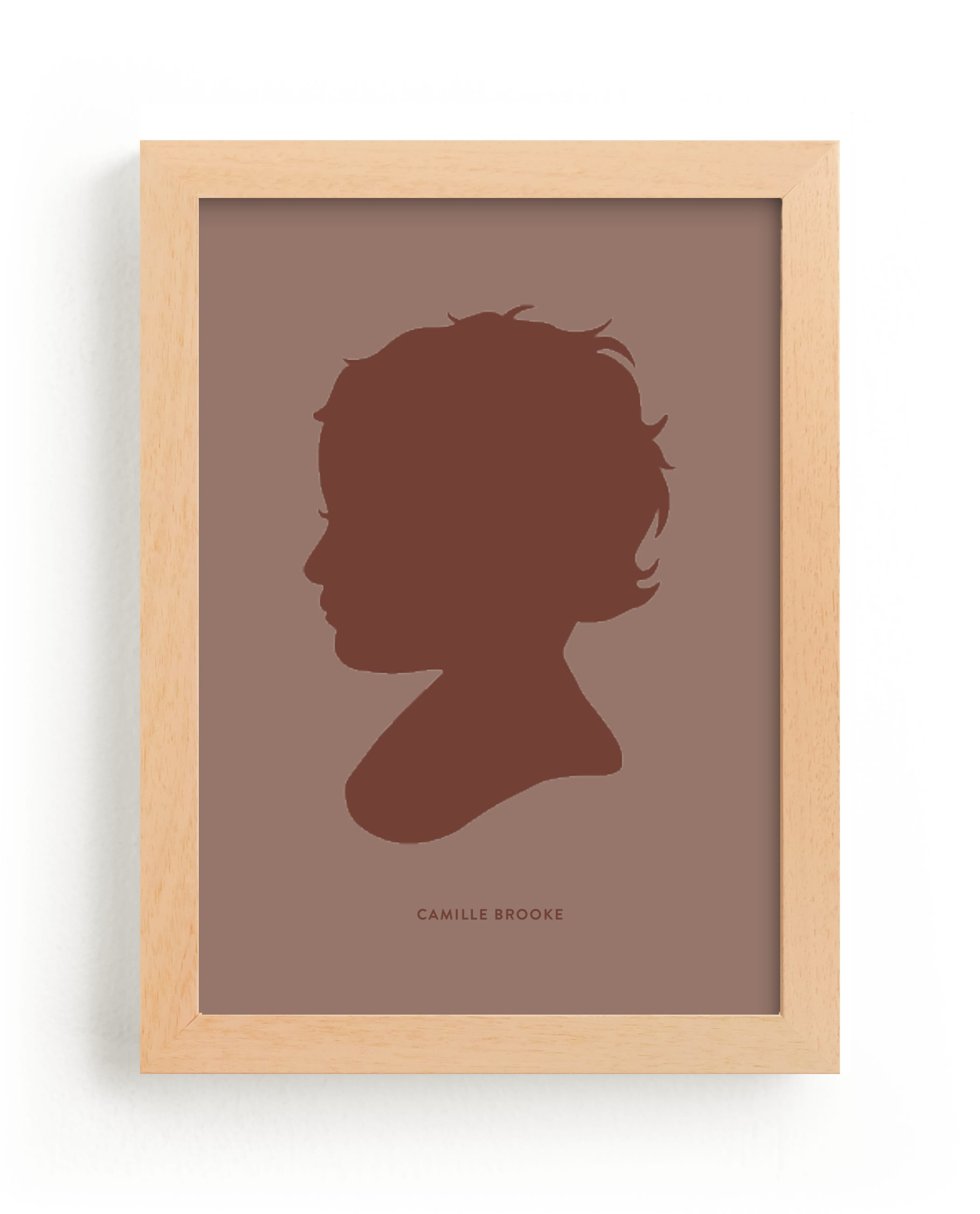 """Tone on Tone Silhouette"" - Silhouette Digital Art by Minted in beautiful frame options and a variety of sizes."
