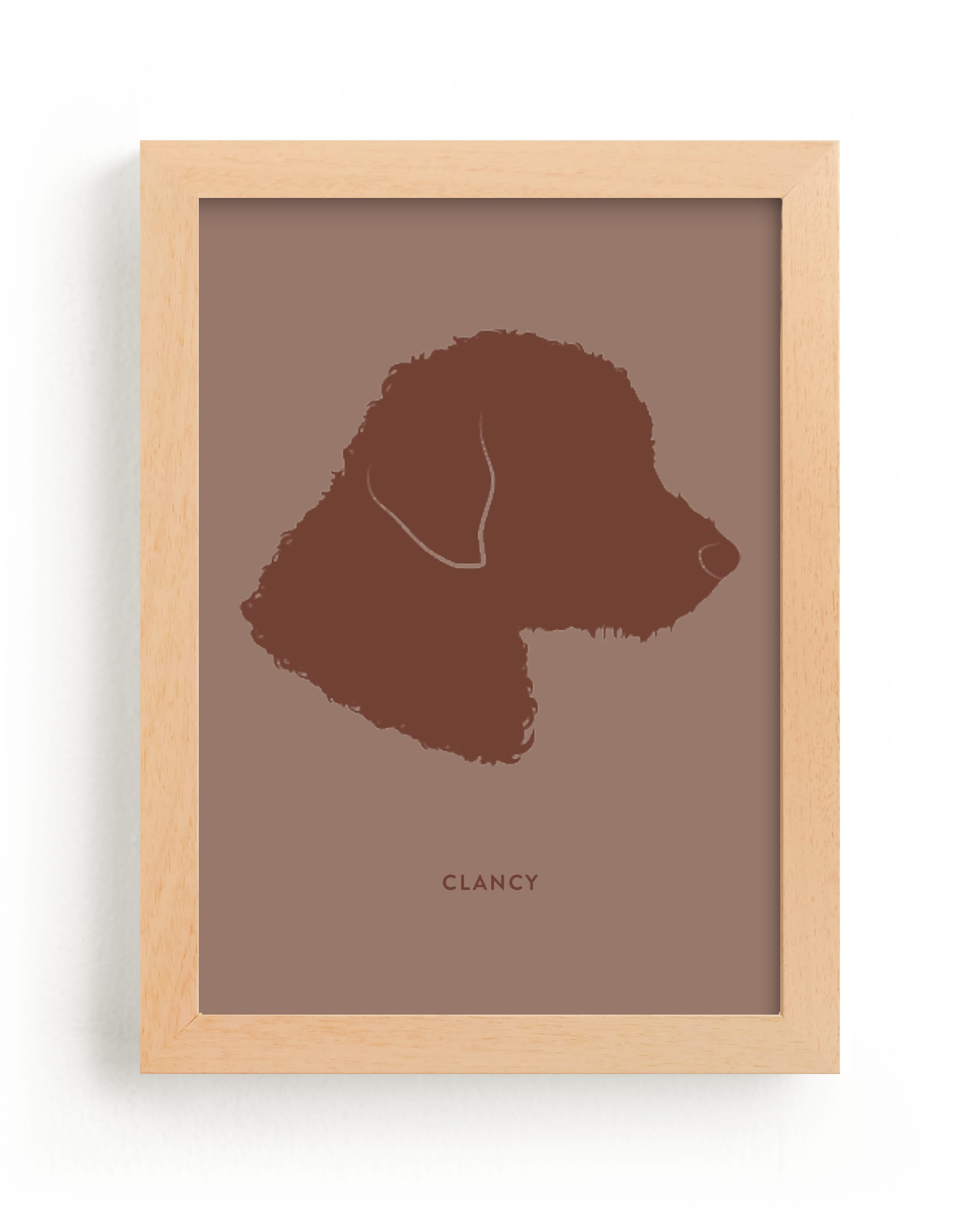"""""""Tone on Tone Pet Silhouette"""" - Silhouette Digital Art by Minted in beautiful frame options and a variety of sizes."""