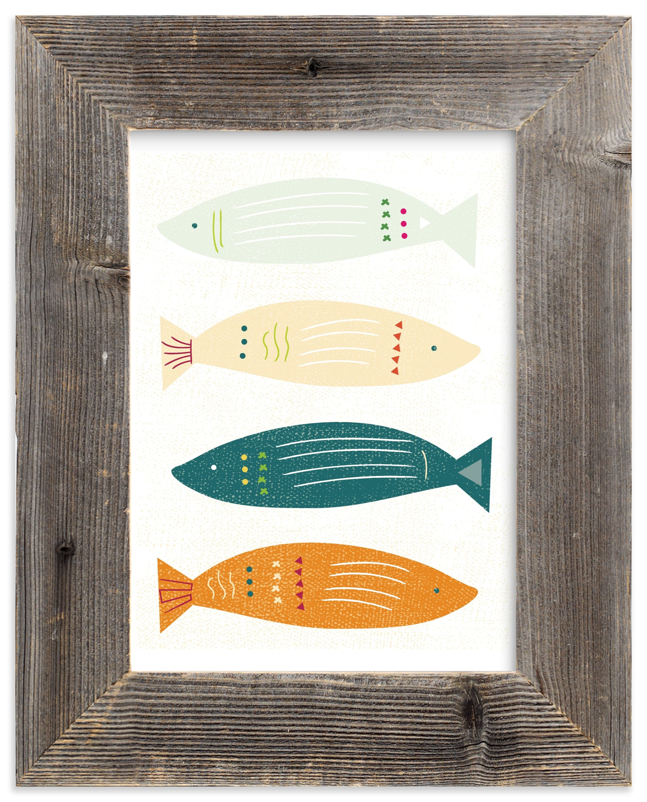 """""""Fish Fiesta"""" - Limited Edition Art Print by Hannah Lipking in beautiful frame options and a variety of sizes."""