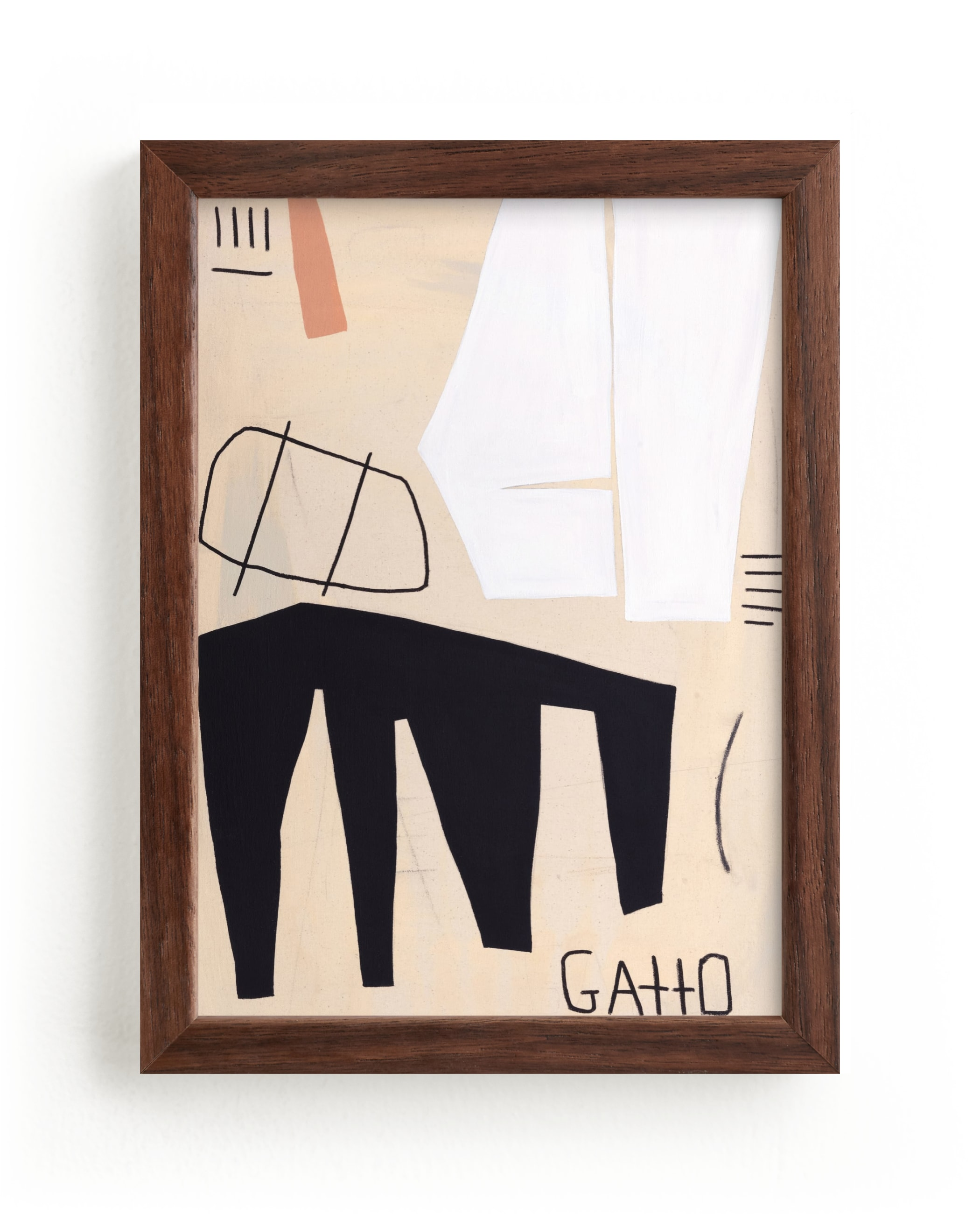 """""""GATTO"""" - Limited Edition Art Print by Keren Toledano in beautiful frame options and a variety of sizes."""