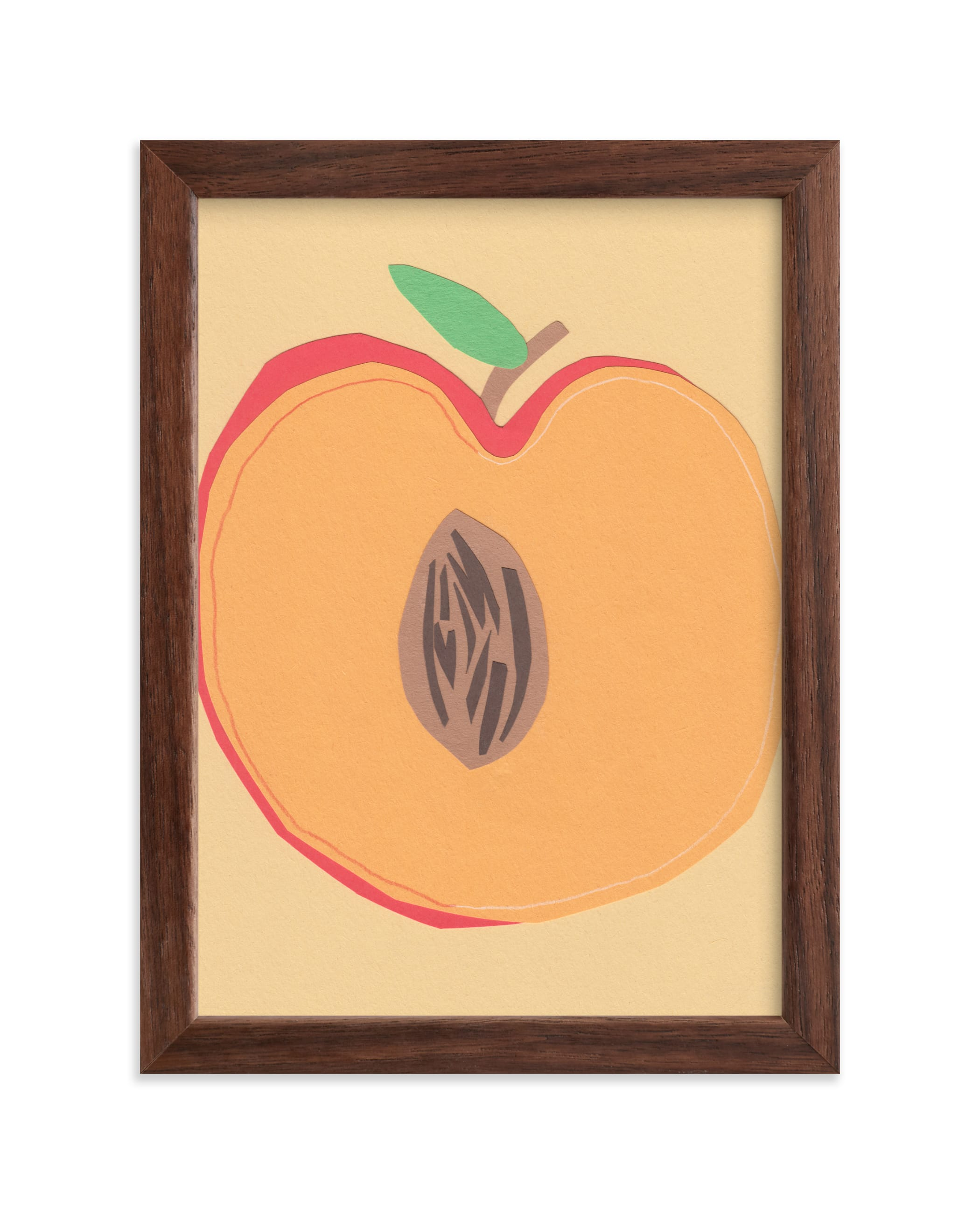 """""""Peach Pit"""" - Limited Edition Art Print by Elliot Stokes in beautiful frame options and a variety of sizes."""