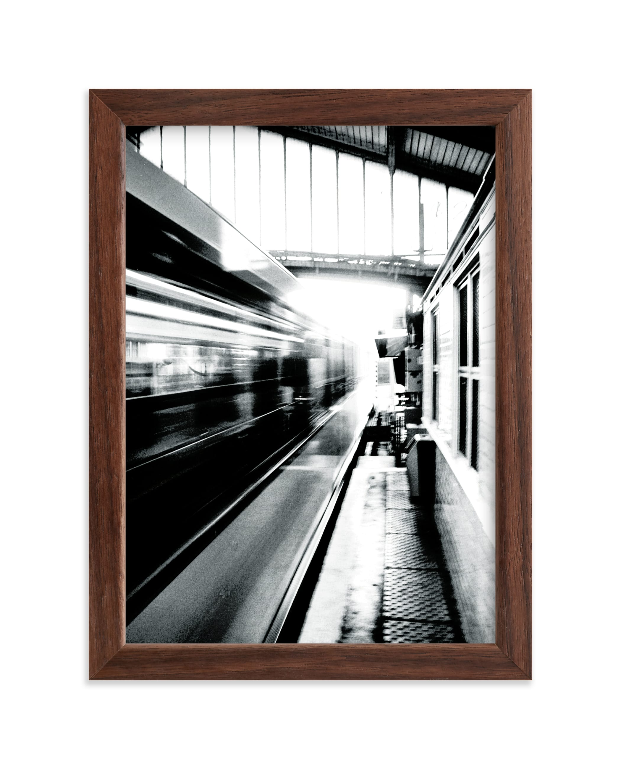 """""""Riding on the Metro"""" - Limited Edition Art Print by Marker Girl in beautiful frame options and a variety of sizes."""