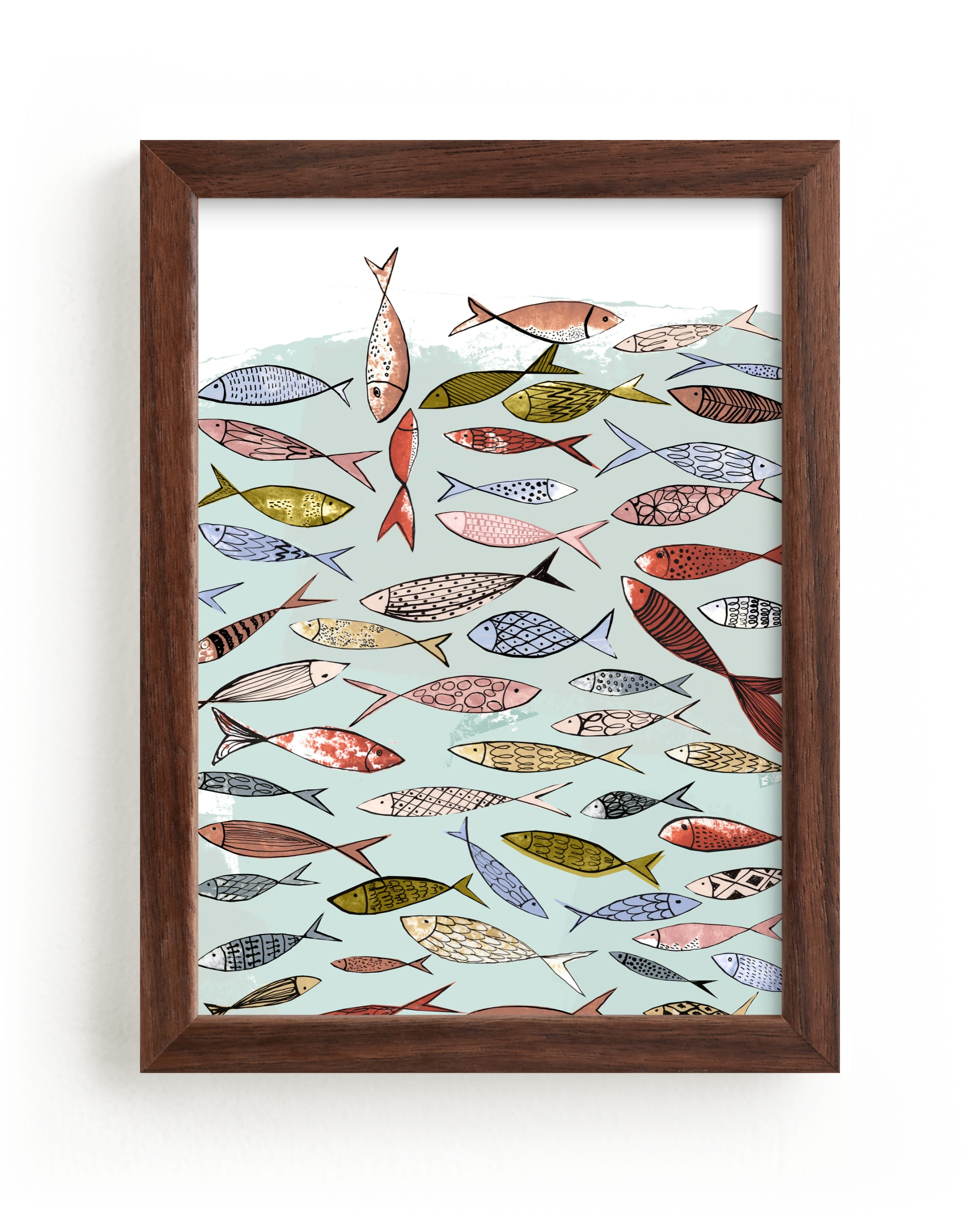 """""""Snapshot of a party in the sea"""" - Limited Edition Art Print by Bethania Lima in beautiful frame options and a variety of sizes."""