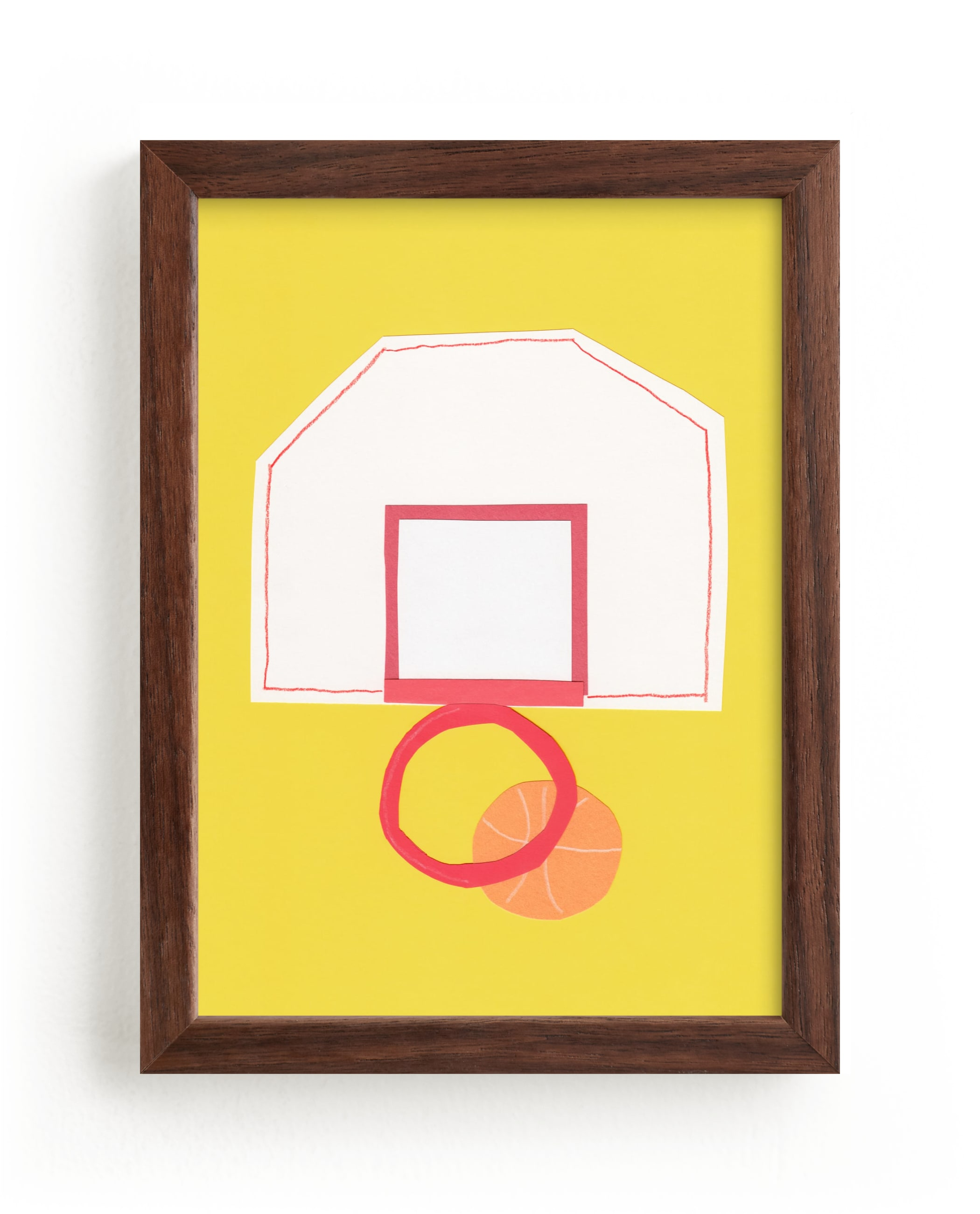 """Basketball Hoop"" - Limited Edition Art Print by Elliot Stokes in beautiful frame options and a variety of sizes."