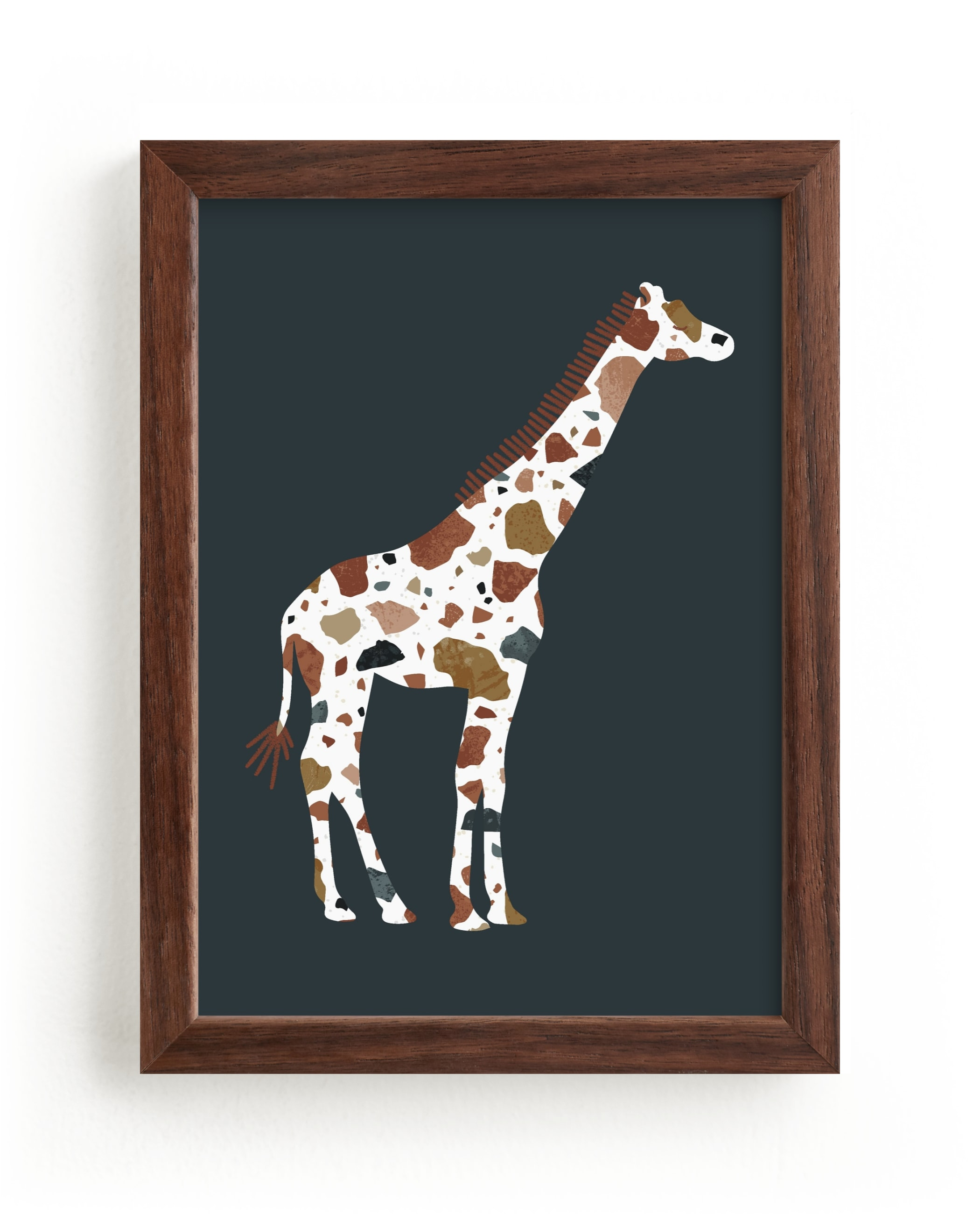 """""""Marmoreal Giraffe"""" - Limited Edition Art Print by Kacey Kendrick Wagner in beautiful frame options and a variety of sizes."""