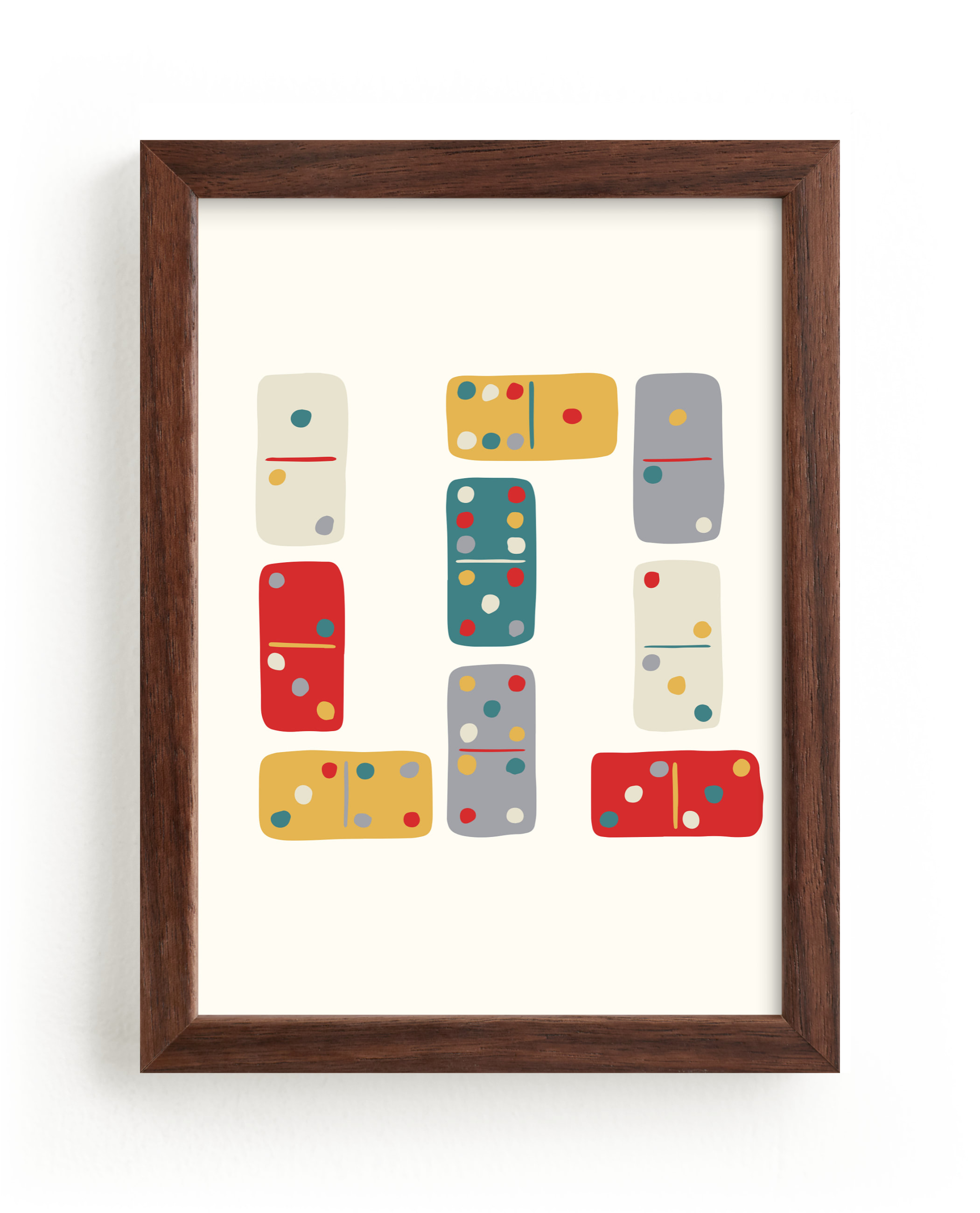 """Dominoes"" by Carolyn Kach in beautiful frame options and a variety of sizes."