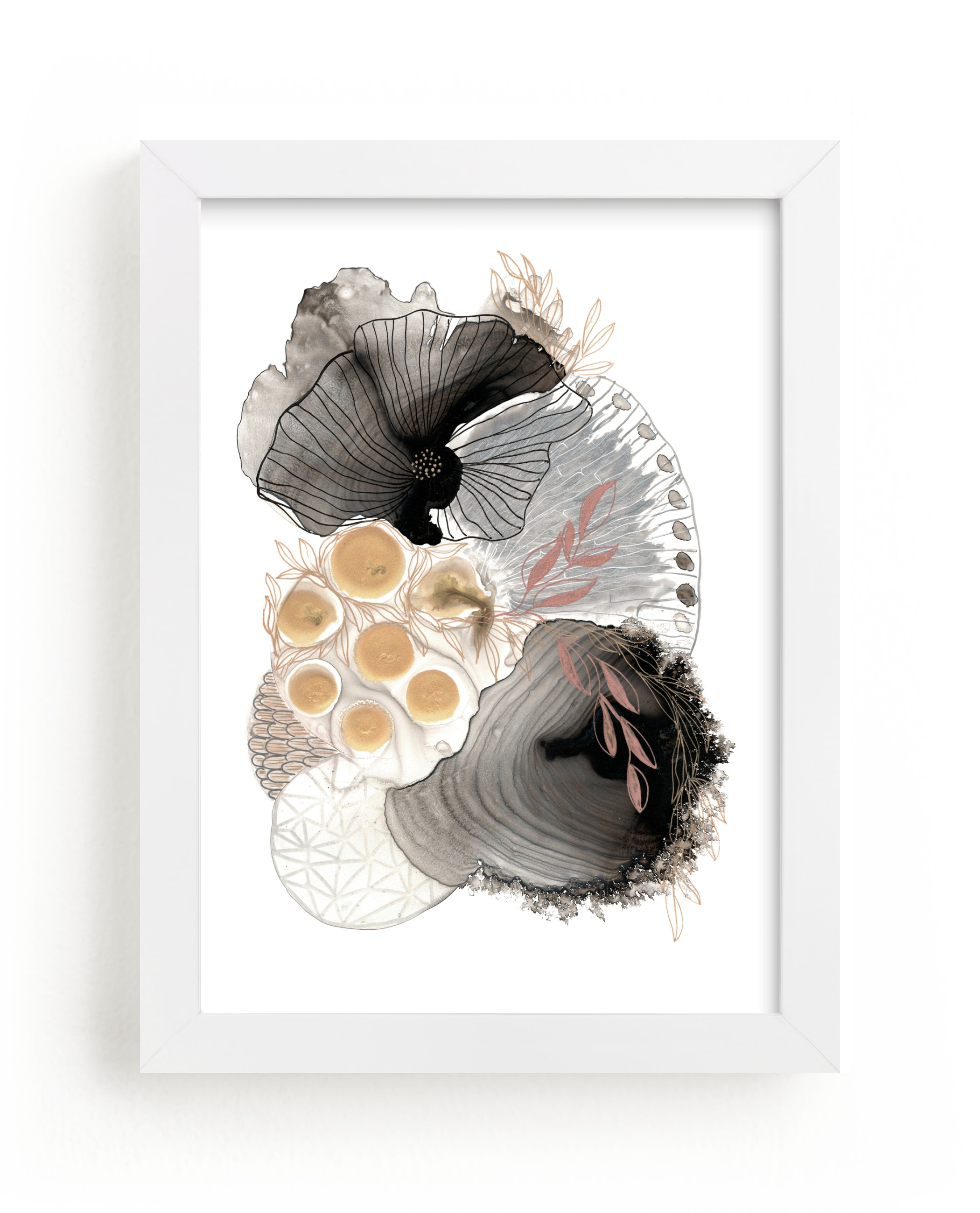 """""""The World Is Your Oyster"""" - Limited Edition Art Print by Maggie Ramirez Burns in beautiful frame options and a variety of sizes."""