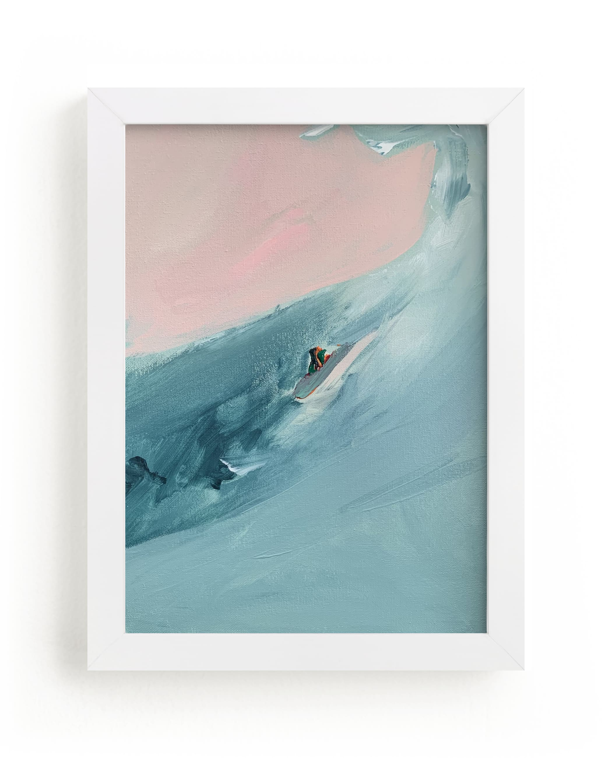 """""""Santa Cruz Surfer"""" - Limited Edition Art Print by Caryn Owen in beautiful frame options and a variety of sizes."""