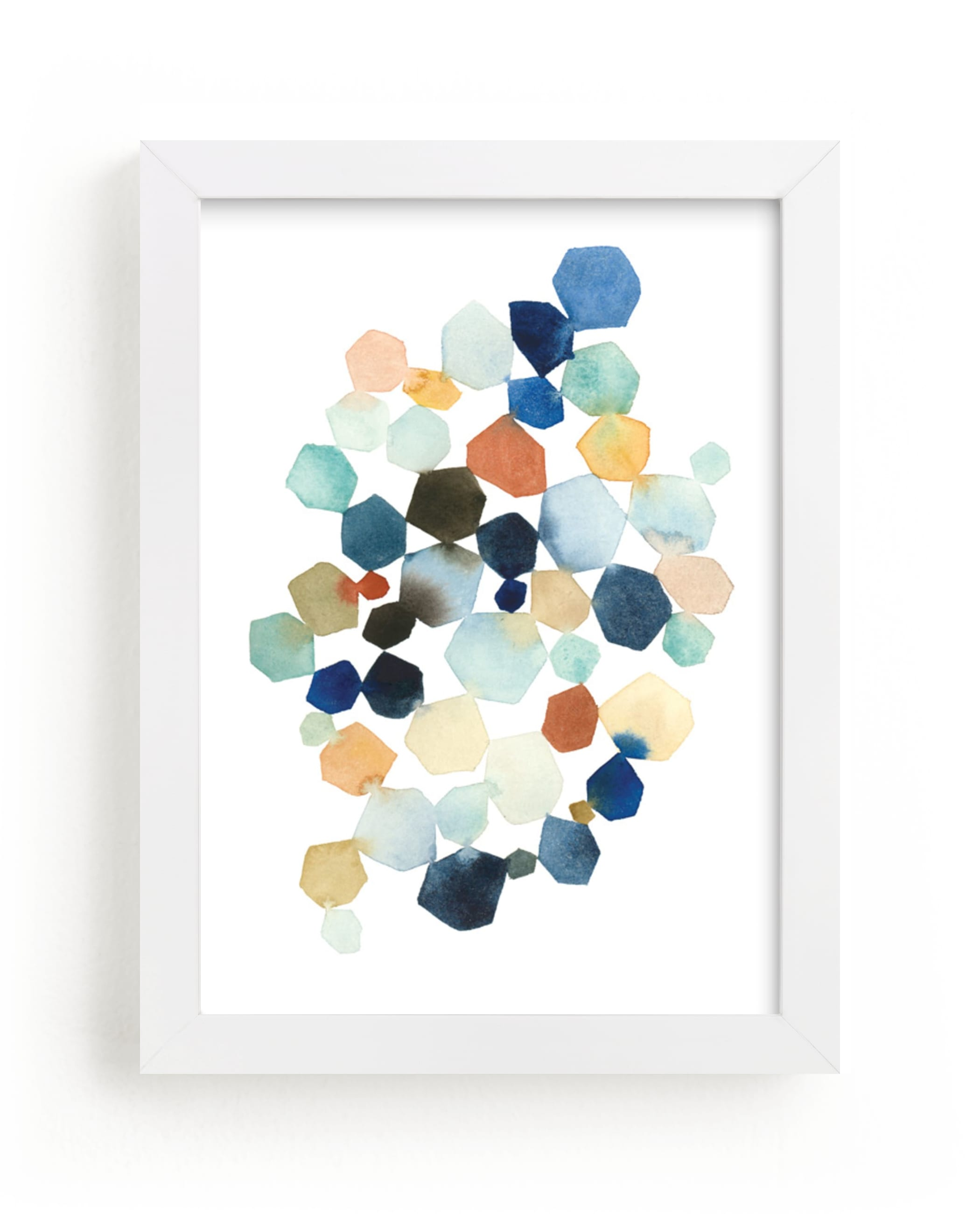 """Hexagon Cluster"" - Limited Edition Art Print by Yao Cheng Design in beautiful frame options and a variety of sizes."